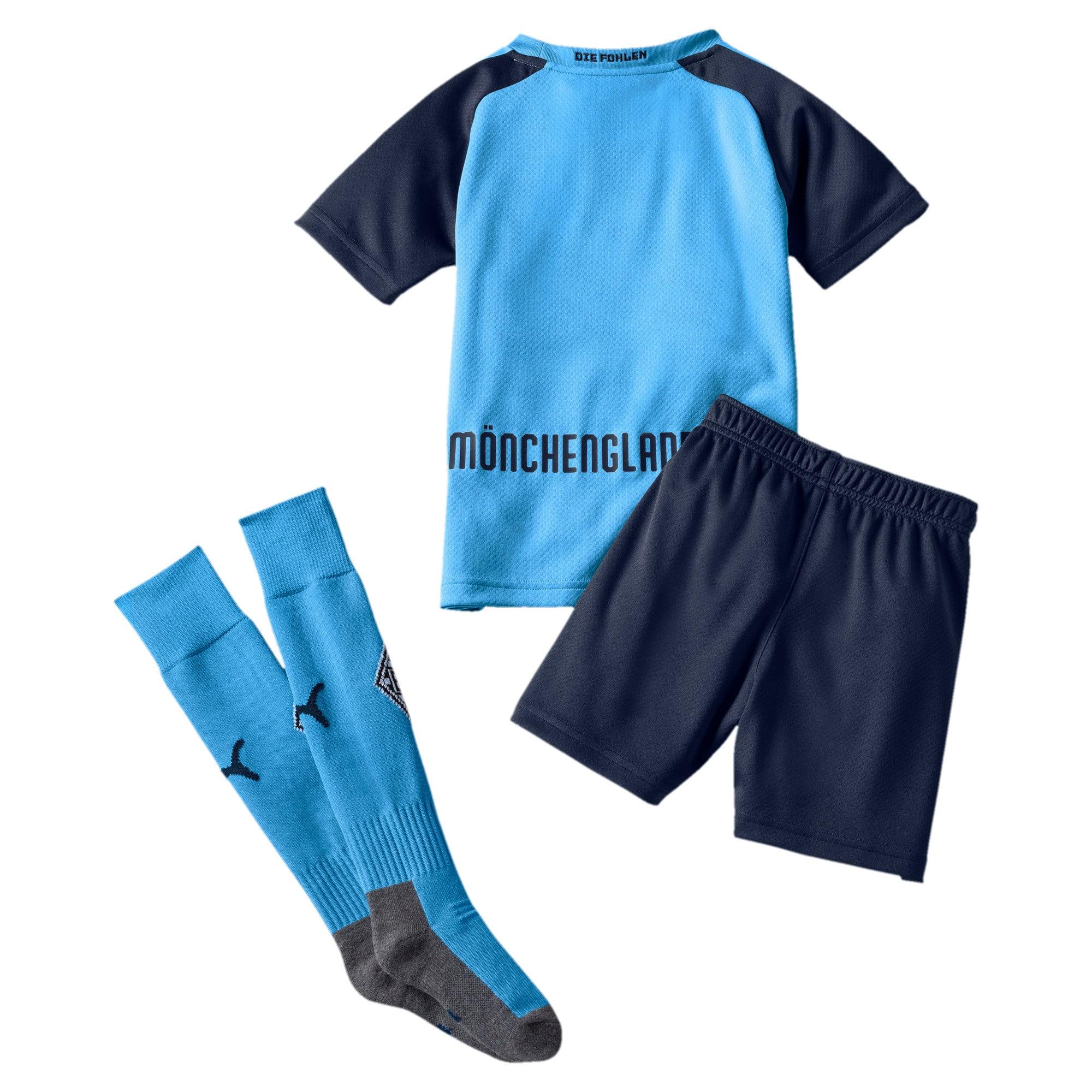 Thumbnail 2 of Borussia Mönchengladbach Away Kids' Mini Kit, Team Light Blue-Peacoat, medium