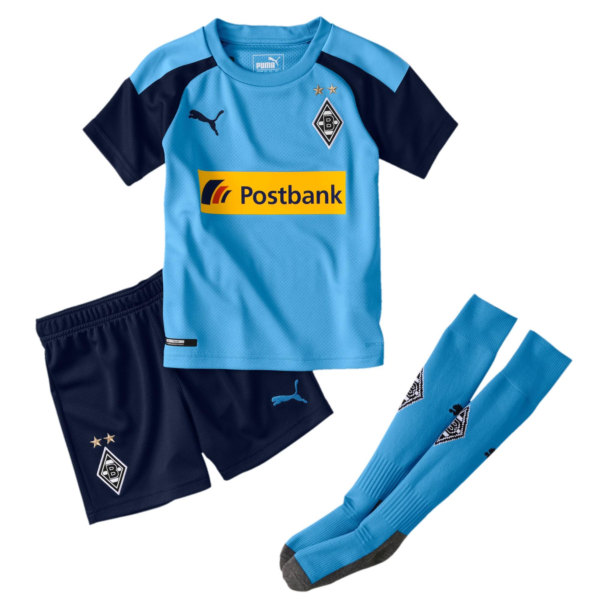 Thumbnail 1 of Borussia Mönchengladbach Away Kids' Mini Kit, Team Light Blue-Peacoat, medium