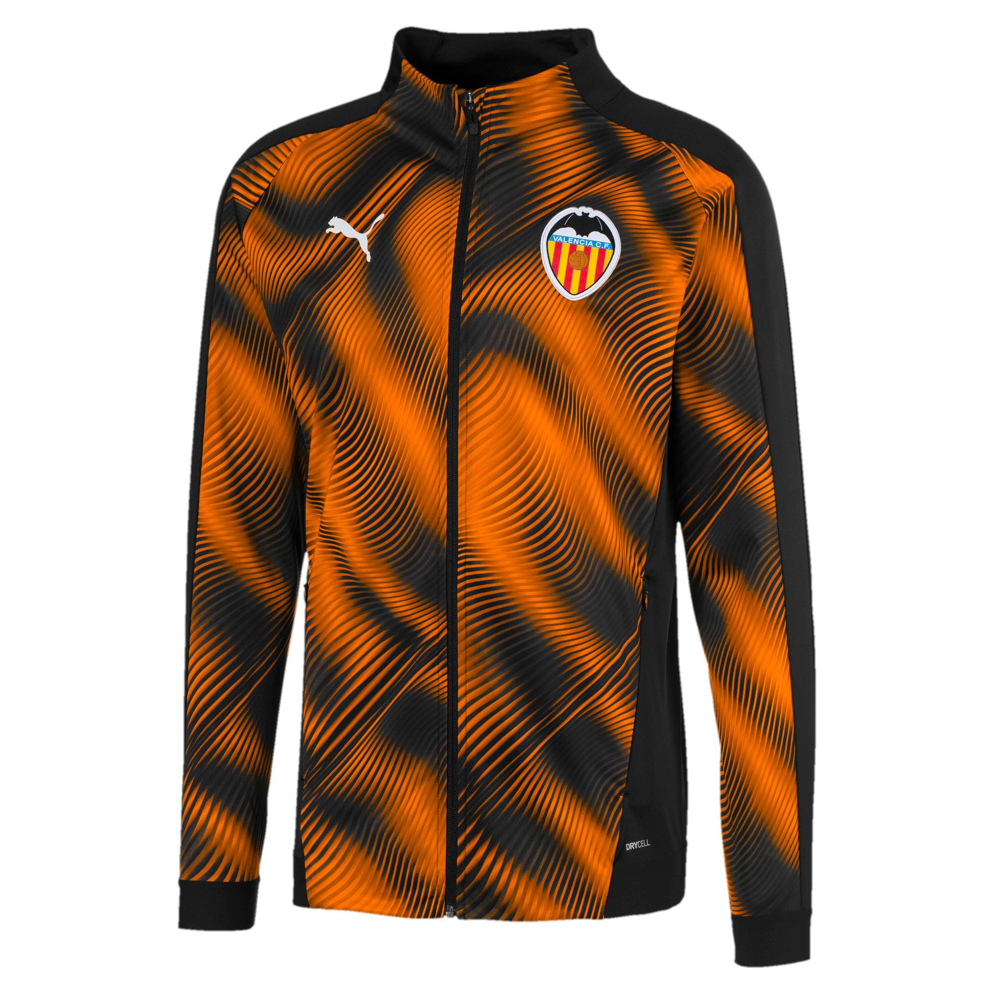 Thumbnail 1 van Valencia CF stadionjack voor mannen, Puma zwart-vibrant orange, medium