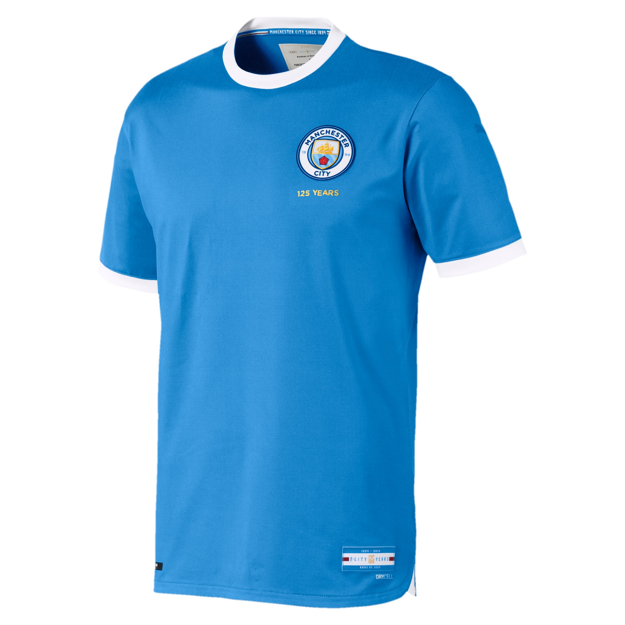 Manchester City Football Club 125 Year Anniversary Authentic Jersey, Marina-Puma White, large