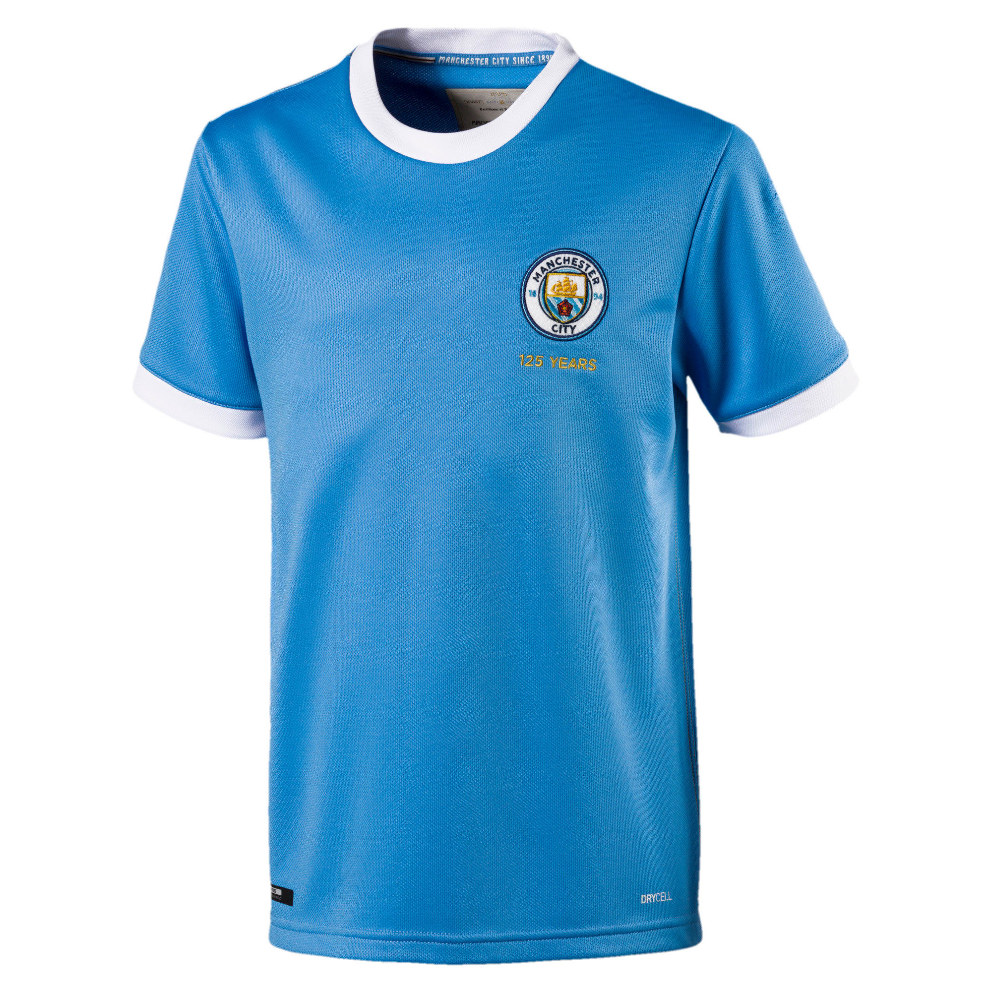 Thumbnail 1 van Manchester City 125 Year Anniversary shirt voor kinderen, Marina-Puma White, medium