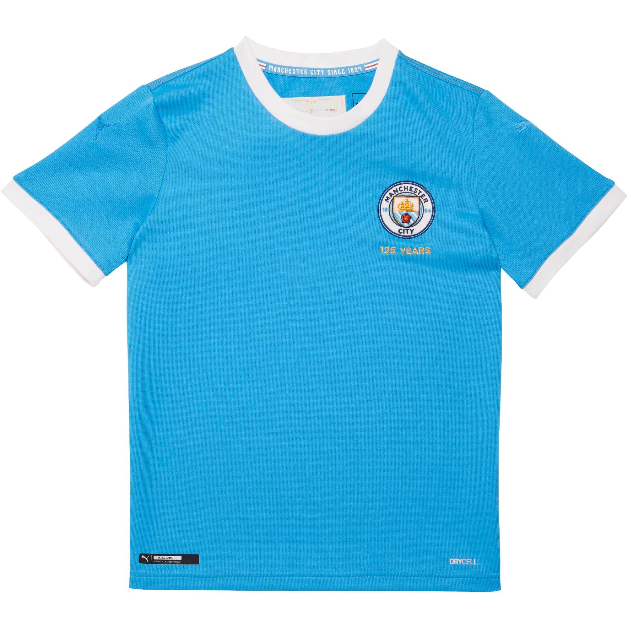 pretty nice fe6a0 1155d Manchester City FC 125th Anniversary Replica Jersey JR