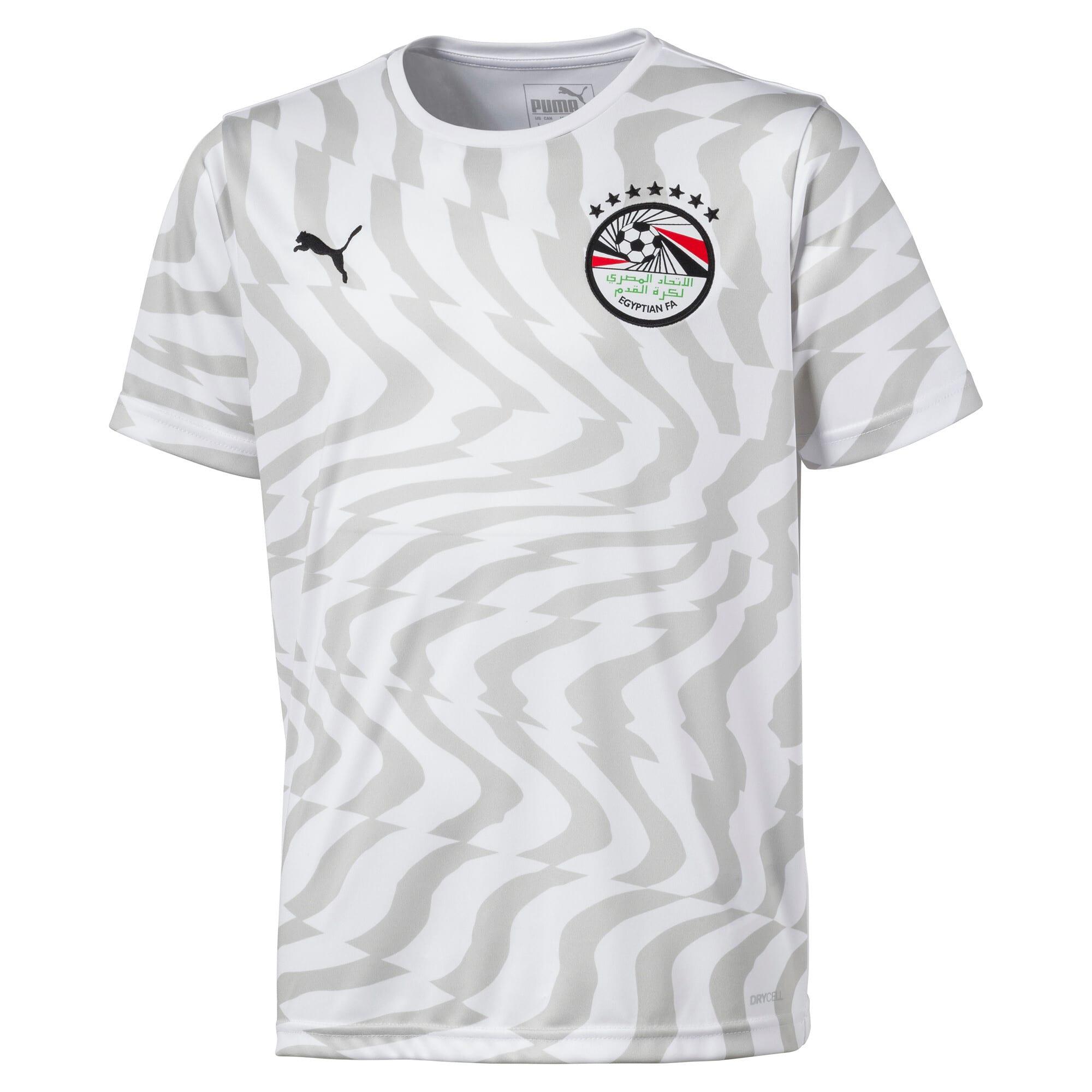 Thumbnail 1 of Egypt Kids' Away Replica Jersey, Puma White-Puma Black, medium