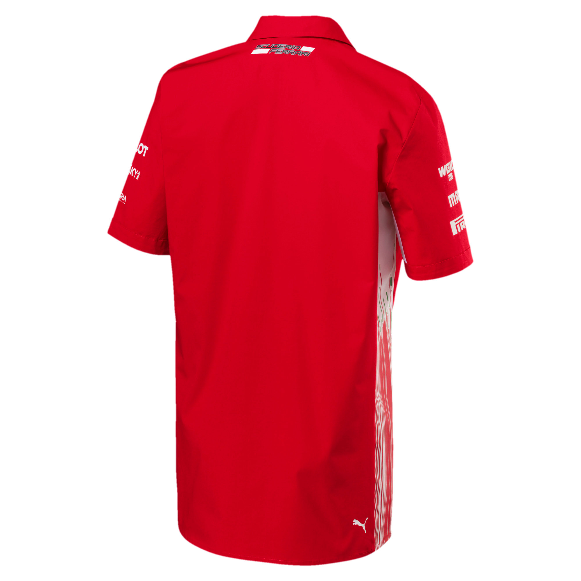 Thumbnail 3 of Scuderia Ferrari Men's Team Shirt, Rosso Corsa, medium