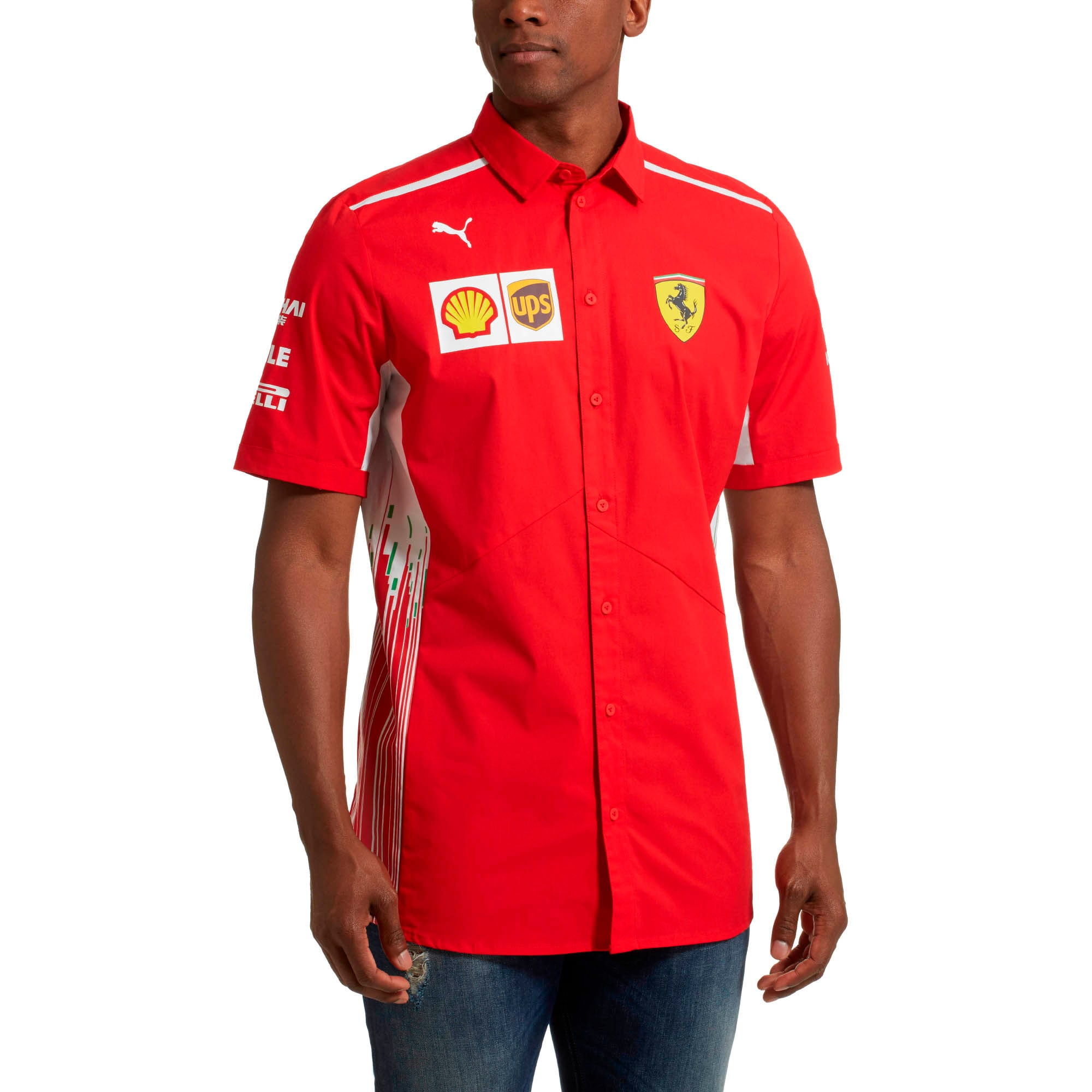 Thumbnail 2 of Scuderia Ferrari Men's Team Shirt, Rosso Corsa, medium