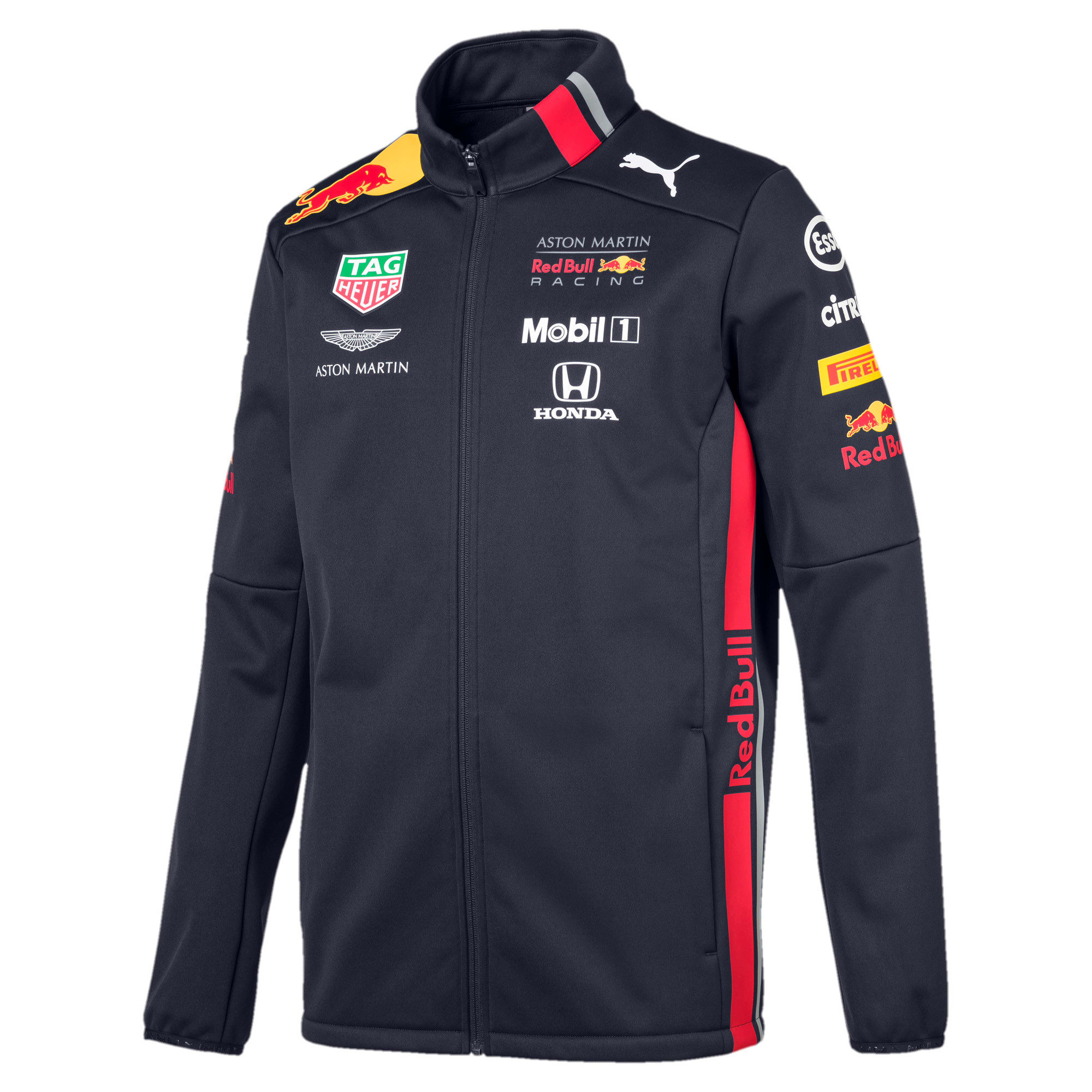 Red Bull Racing Team Men's Softshell Jacket, NIGHT SKY, large