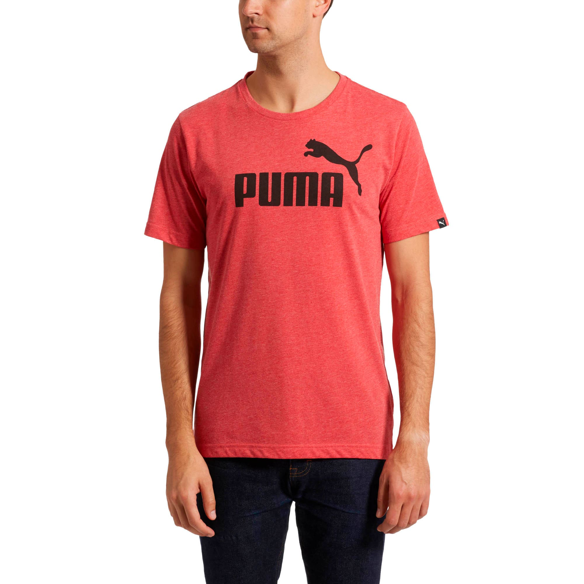 No. 1 Heather T-Shirt, Ribbon Red Heather, large