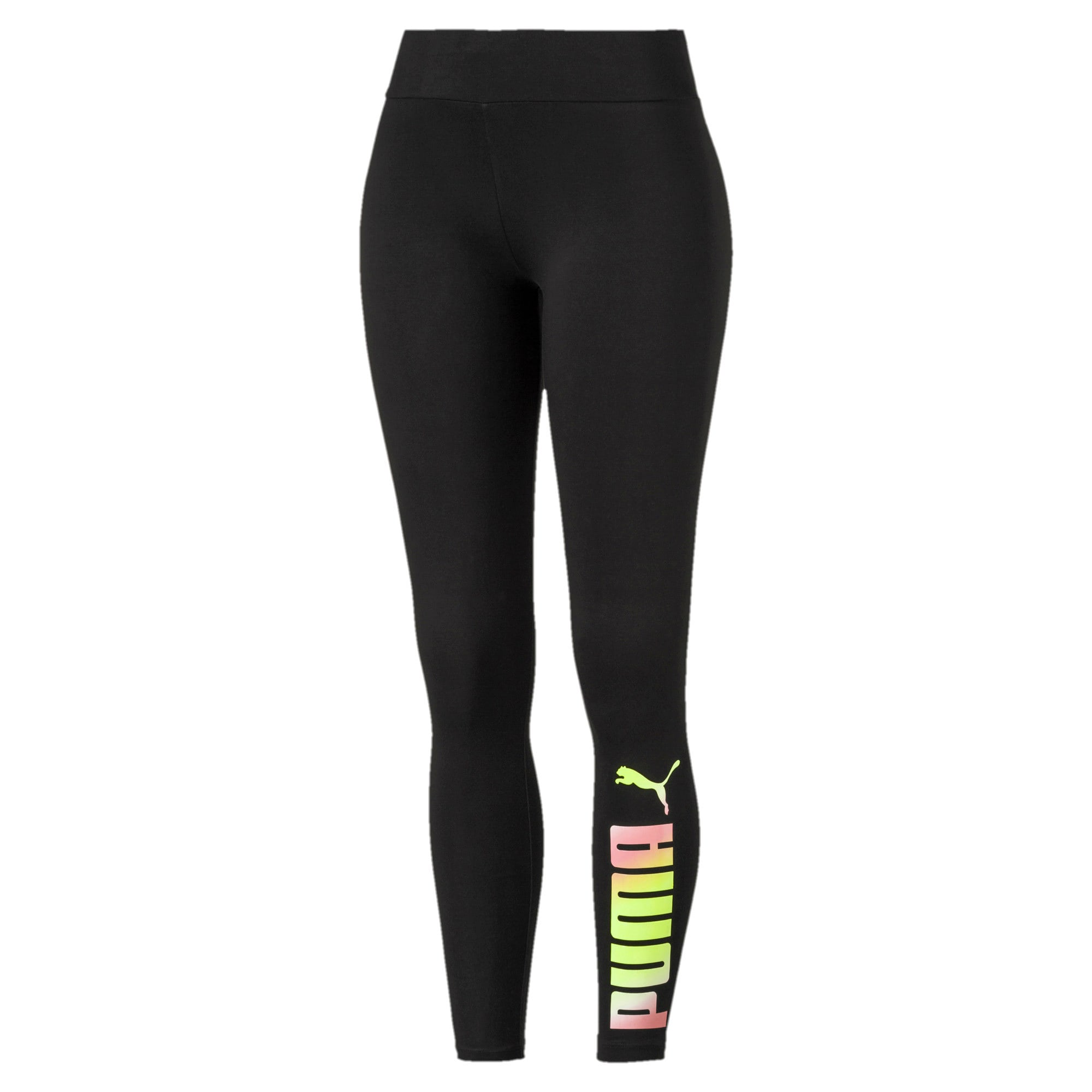 Miniatura 1 de Leggings Essential estampados para mujer, Puma Black, mediano