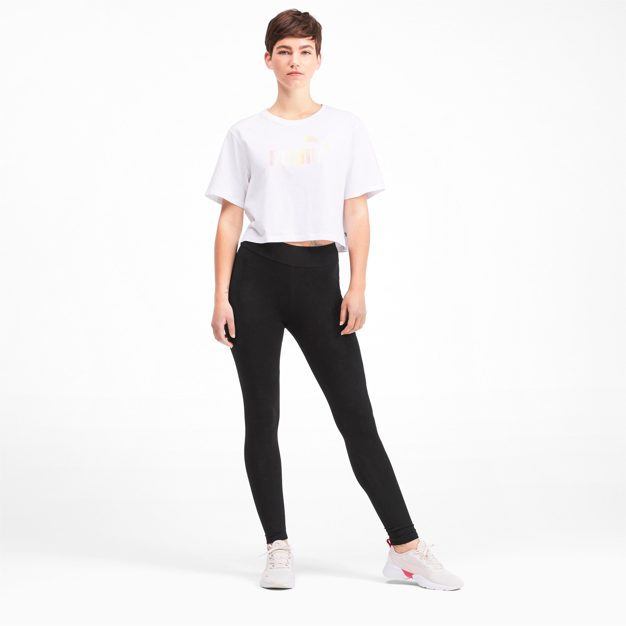 Miniatura 4 de Leggings Essential estampados para mujer, Puma Black, mediano