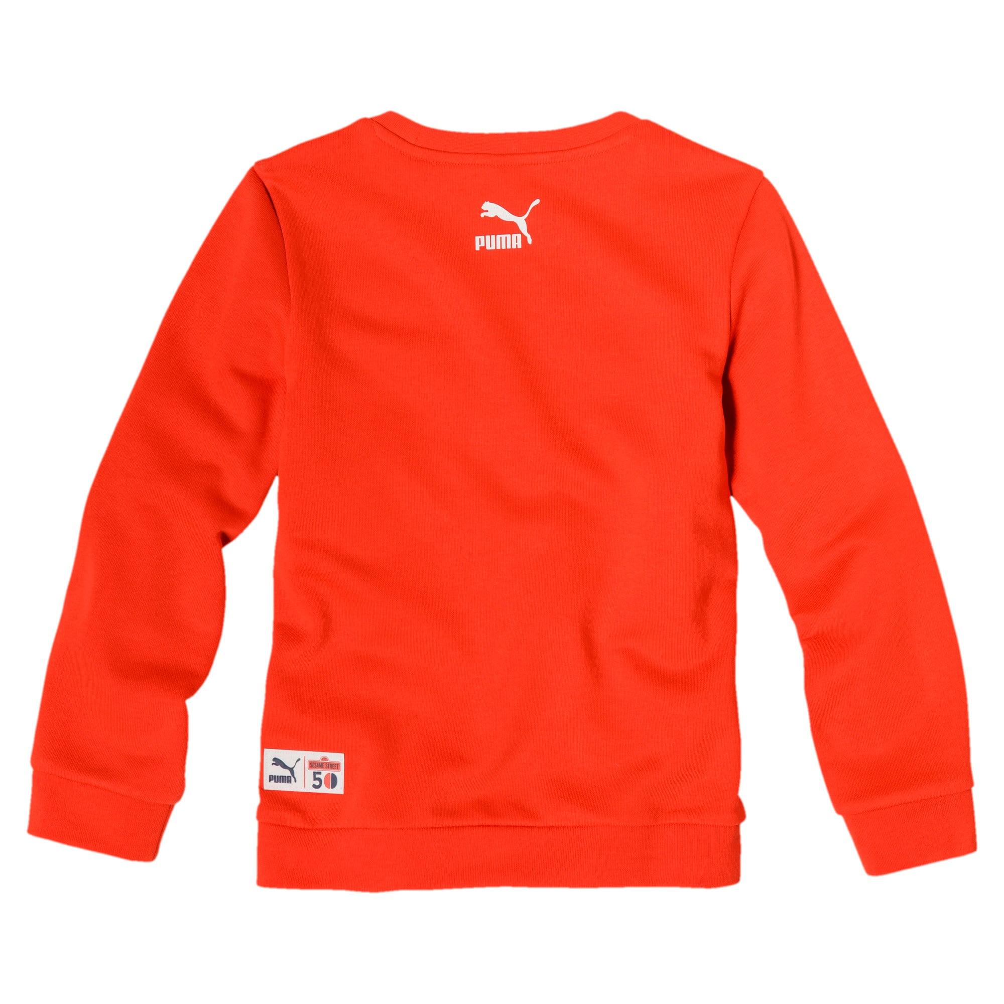 Miniatura 2 de Sudadera con cuello redondo PUMA x SESAME STREET para niño, Cherry Tomato, mediano