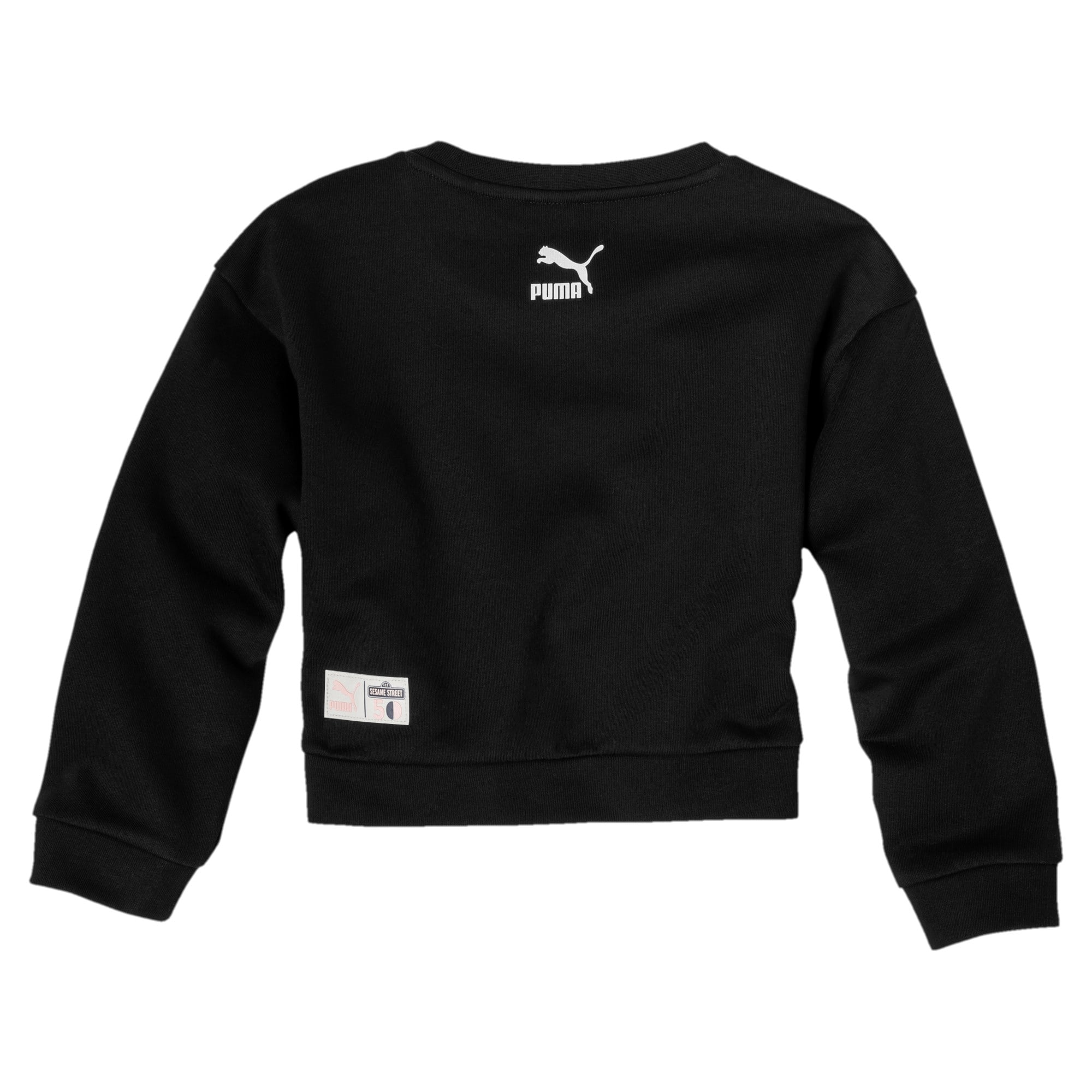 Miniatura 2 de Sudadera con cuello redondo PUMA x SESAME STREET para niña, Cotton Black, mediano