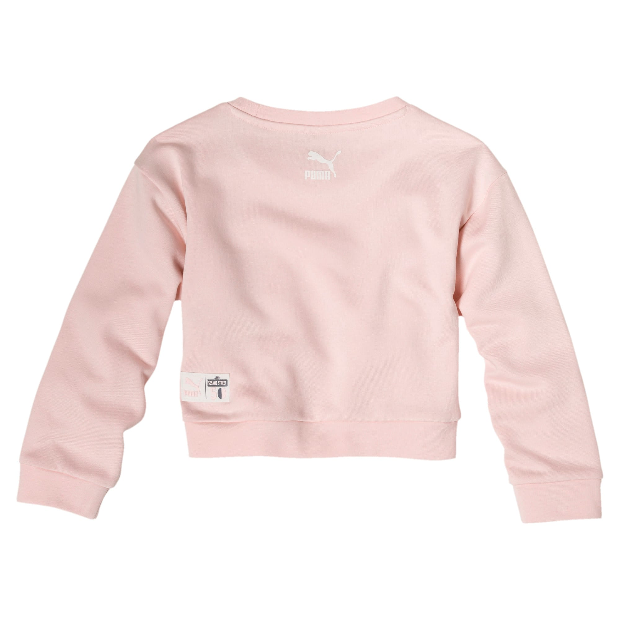 Thumbnail 2 of PUMA x SESAME STREET Girl's Crewneck Sweatshirt, Veiled Rose, medium