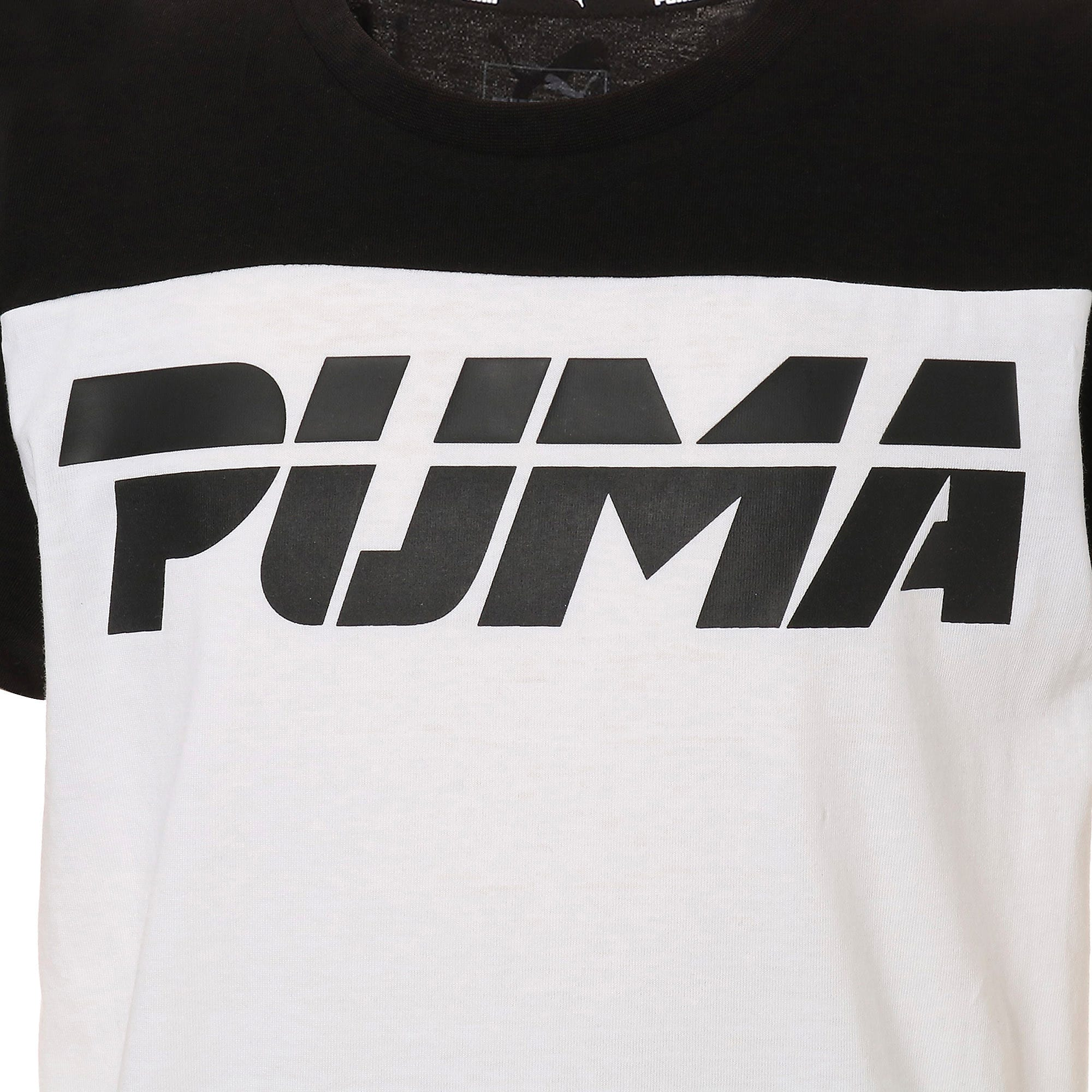 Thumbnail 4 of キッズ ALPHA SS トレンド Tシャツ 半袖, Puma Black, medium-JPN