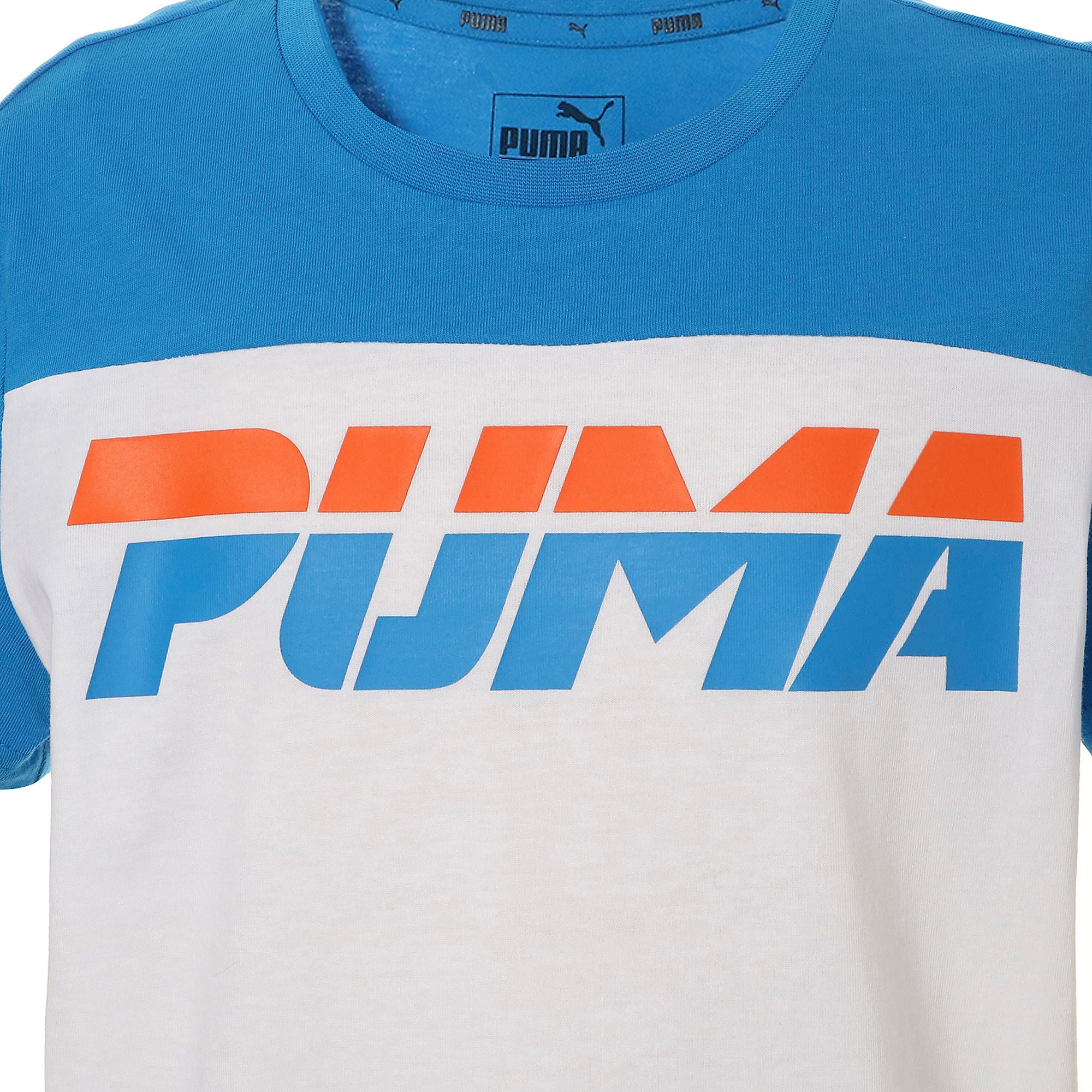 Thumbnail 4 of キッズ ALPHA SS トレンド Tシャツ 半袖, Puma White, medium-JPN