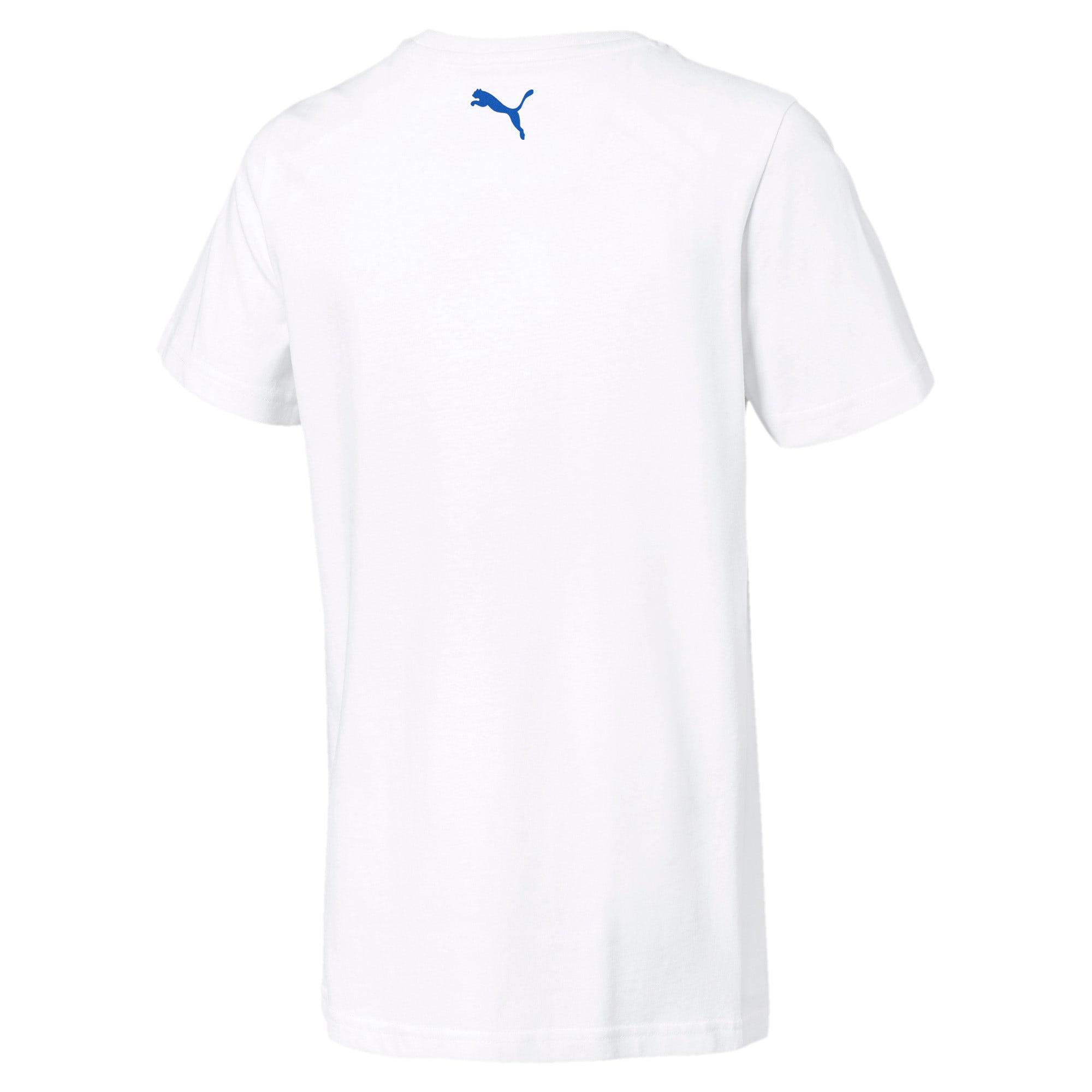 Thumbnail 2 of キッズ ALPHA SS グラフィック Tシャツ 半袖, Puma White, medium-JPN