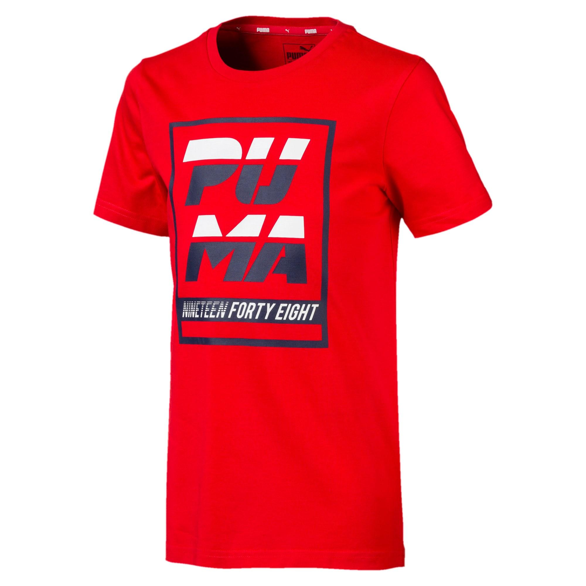 Thumbnail 1 of キッズ ALPHA SS グラフィック Tシャツ 半袖, High Risk Red, medium-JPN