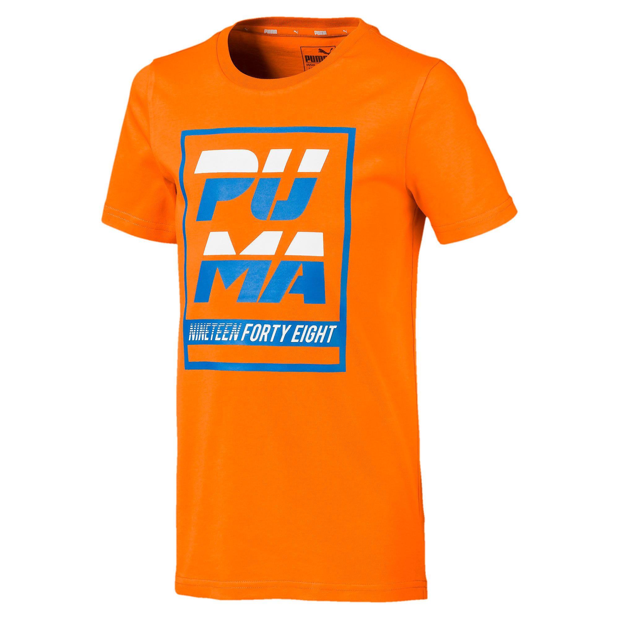 Thumbnail 1 of キッズ ALPHA SS グラフィック Tシャツ 半袖, Orange Popsicle, medium-JPN