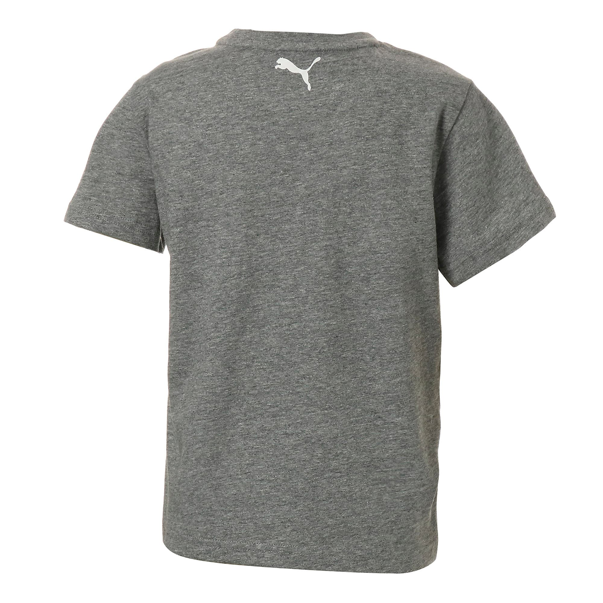 Thumbnail 3 of キッズ ALPHA SS グラフィック Tシャツ 半袖, Medium Gray Heather, medium-JPN