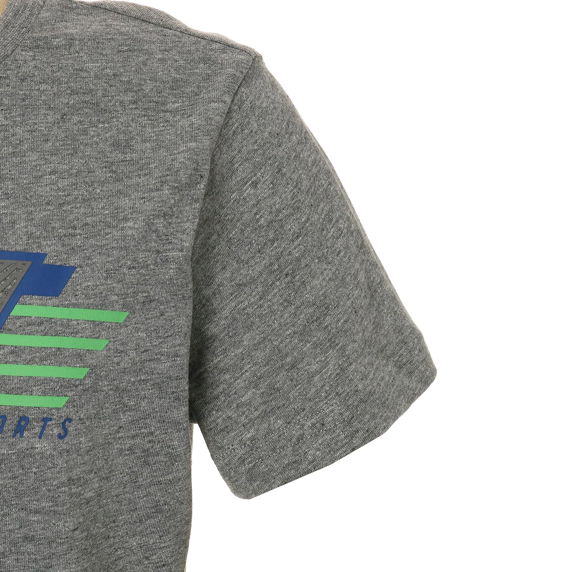 Thumbnail 5 of キッズ ALPHA SS グラフィック Tシャツ 半袖, Medium Gray Heather, medium-JPN