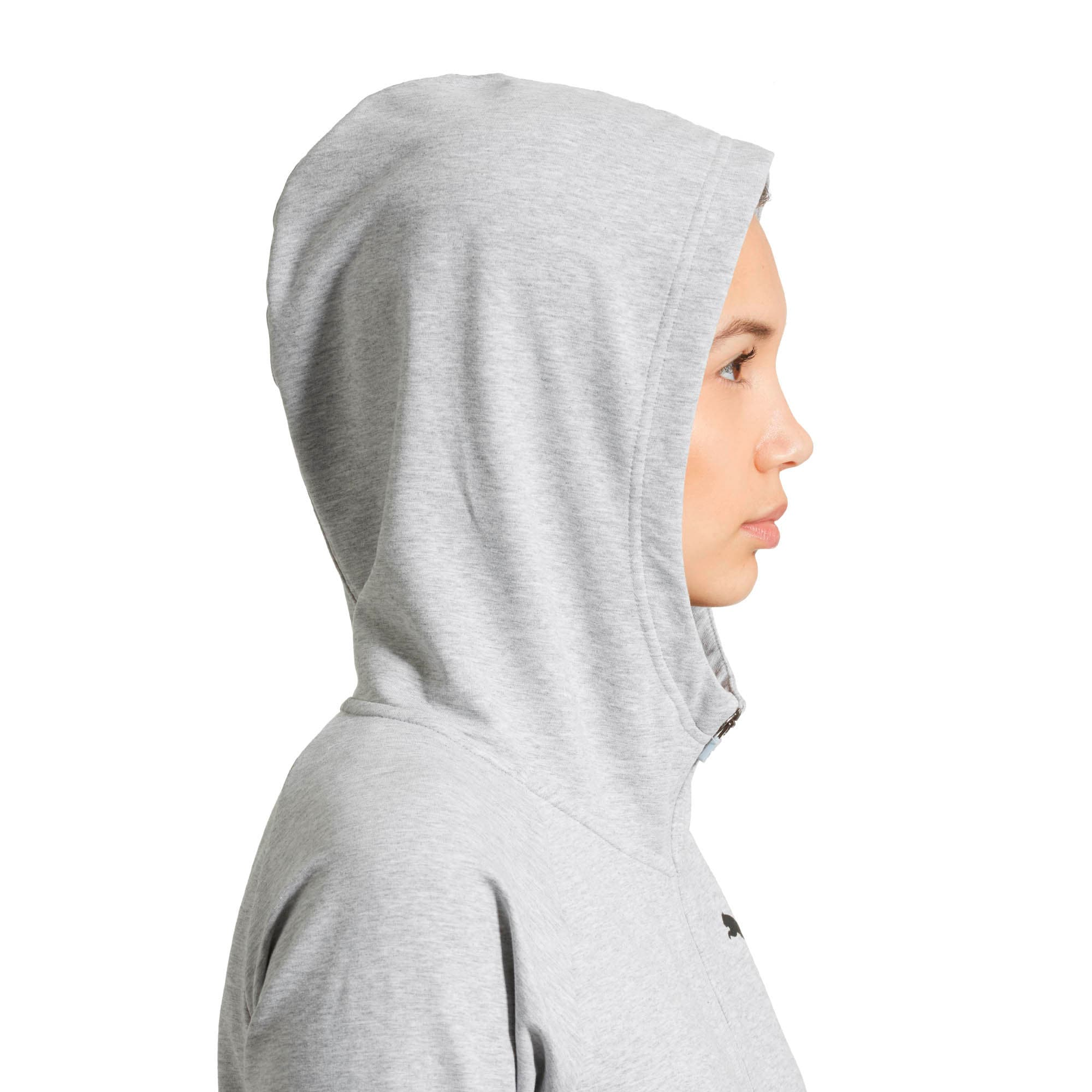 Thumbnail 3 of Training Urban Sports  Women's Full Zip Hoodie, Light Gray Heather, medium