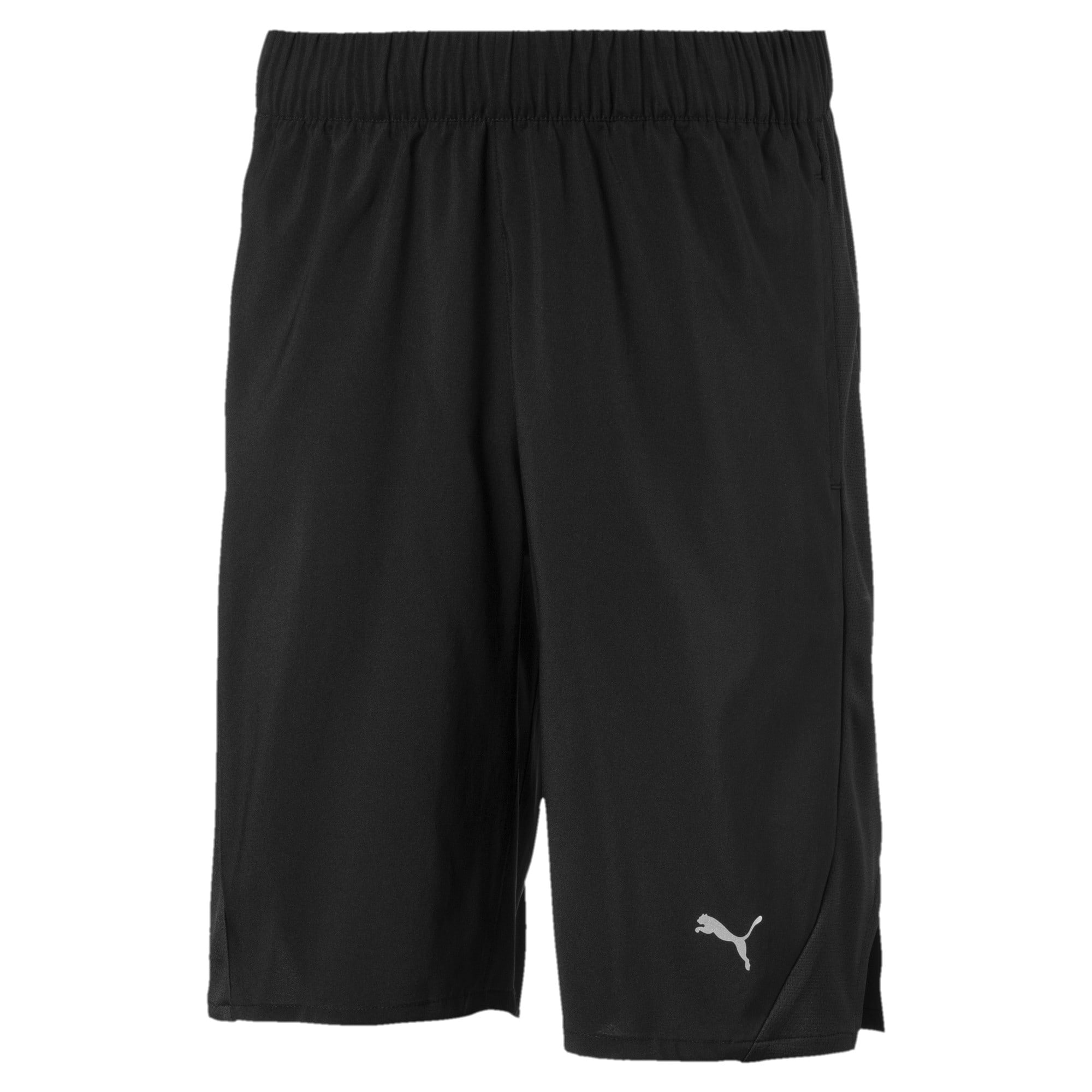 Thumbnail 1 of Boys' Gym Woven Shorts, Puma Black, medium-IND