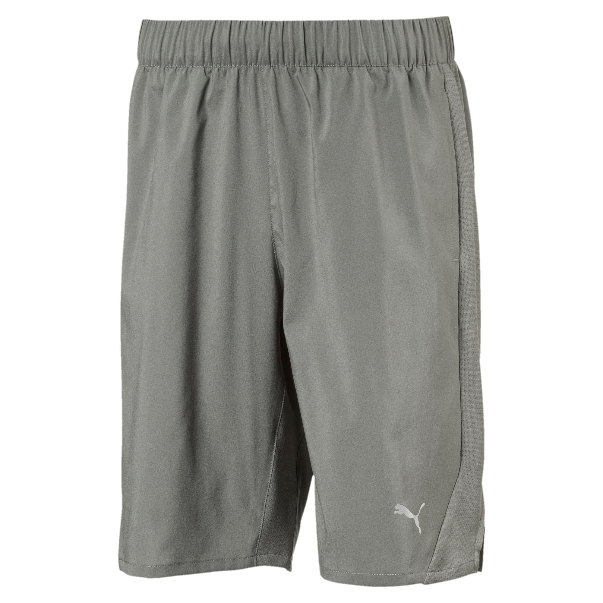 Boys' Gym Woven Shorts, Castor Gray, large-IND