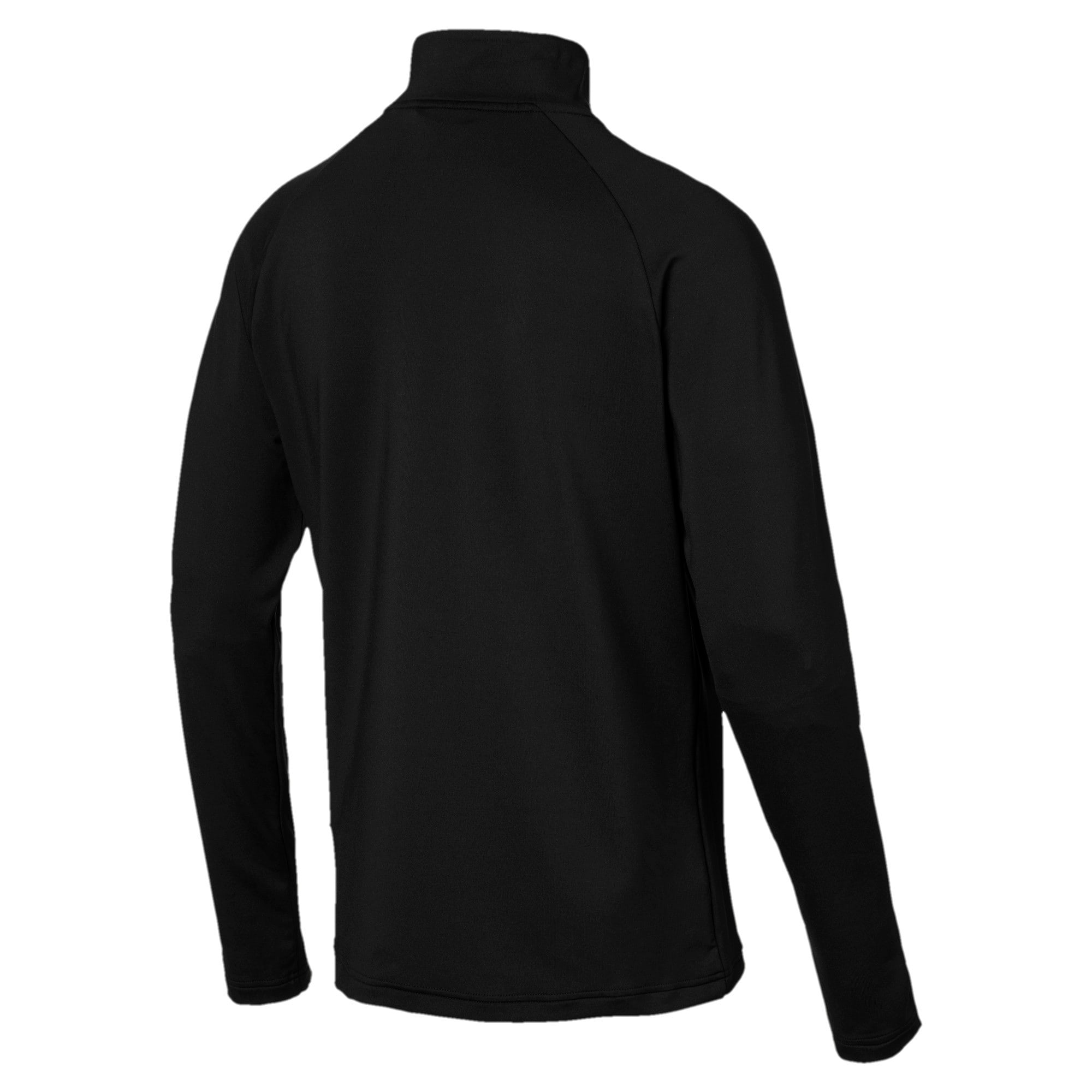 Thumbnail 2 of Active Men's Half Zip Sweater, Puma Black, medium