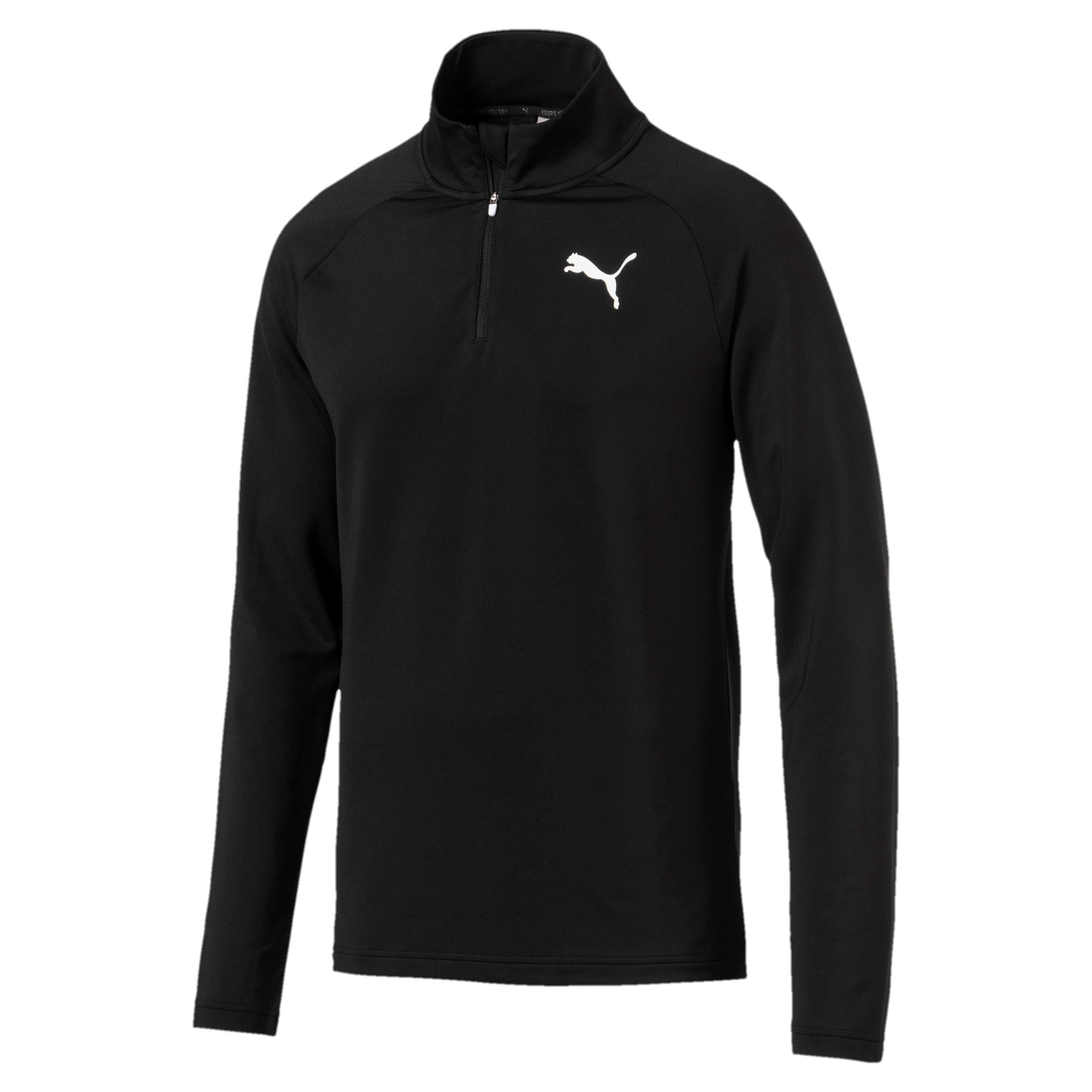 Thumbnail 1 of Active Men's Half Zip Sweater, Puma Black, medium