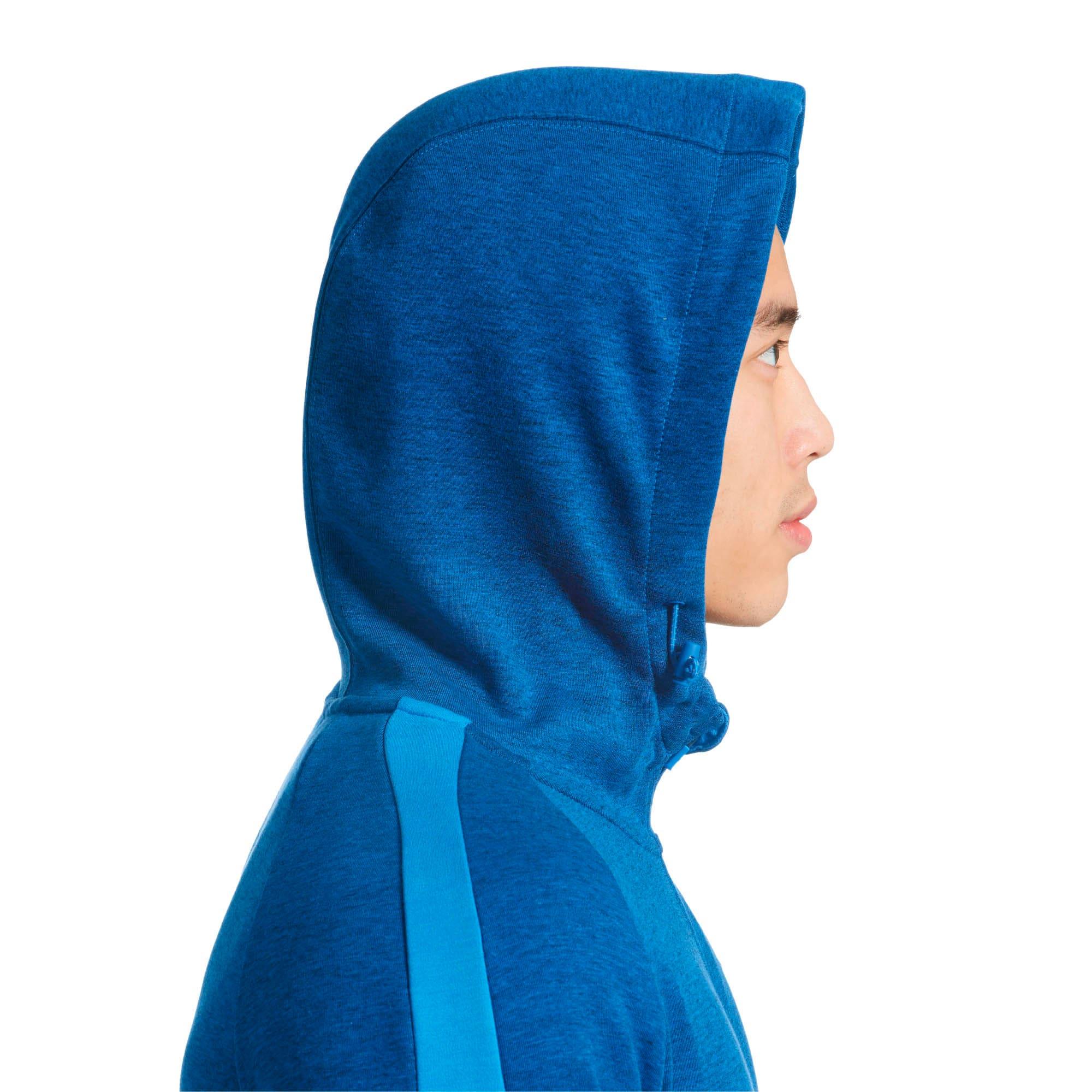 Thumbnail 2 of Evostripe Full Zip Men's Hoodie, Strong Blue Heather, medium