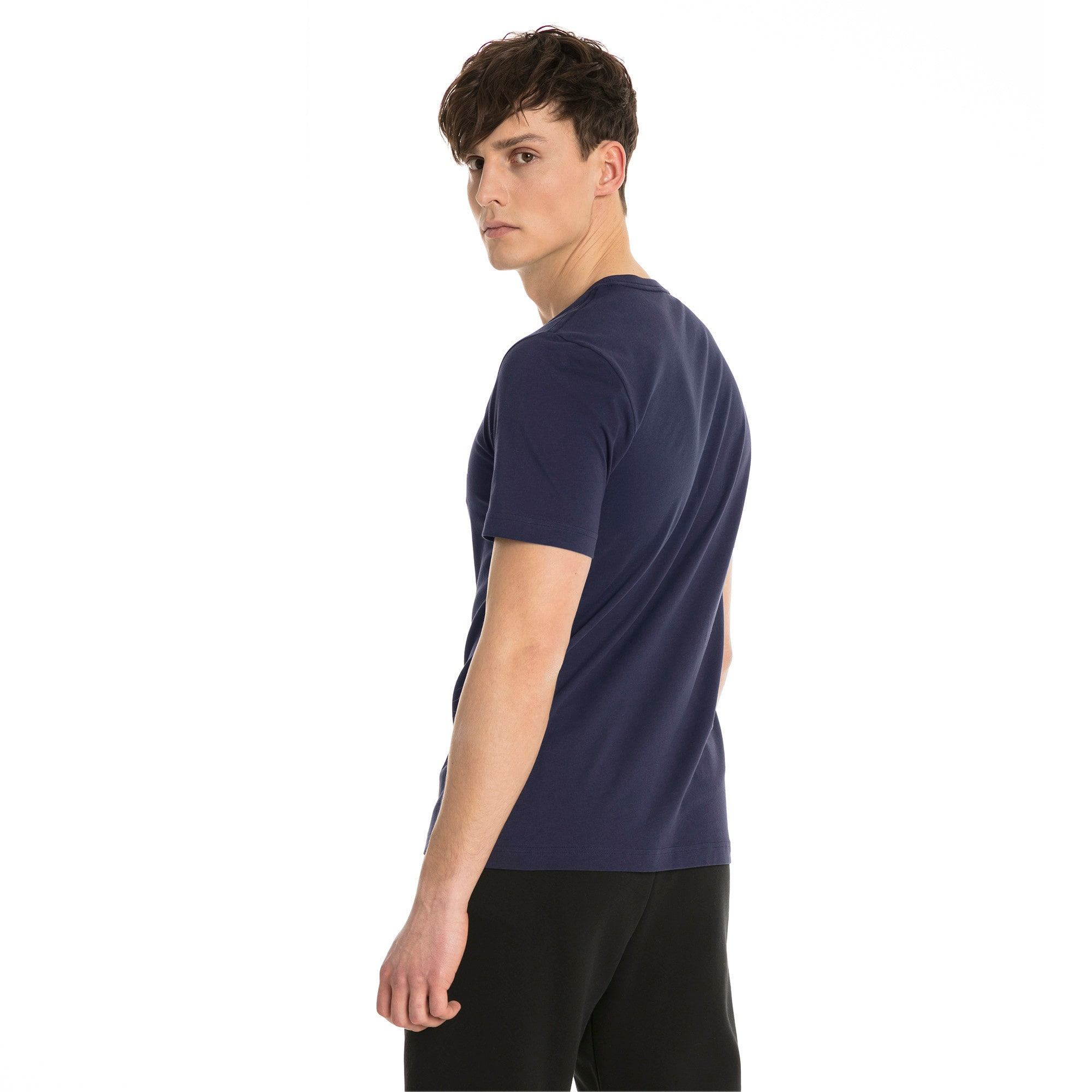 Thumbnail 2 of Essentials Herren T-Shirt, Peacoat, medium
