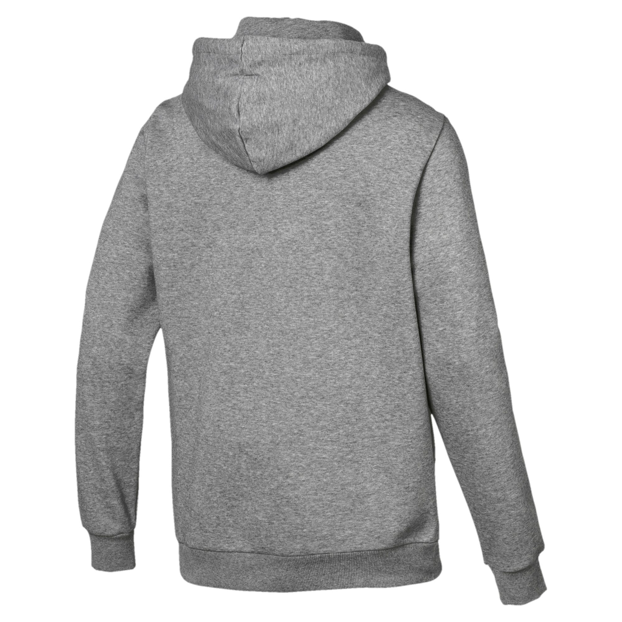 Thumbnail 3 of Essentials Men's Fleece Hoodie, Medium Gray Heather, medium