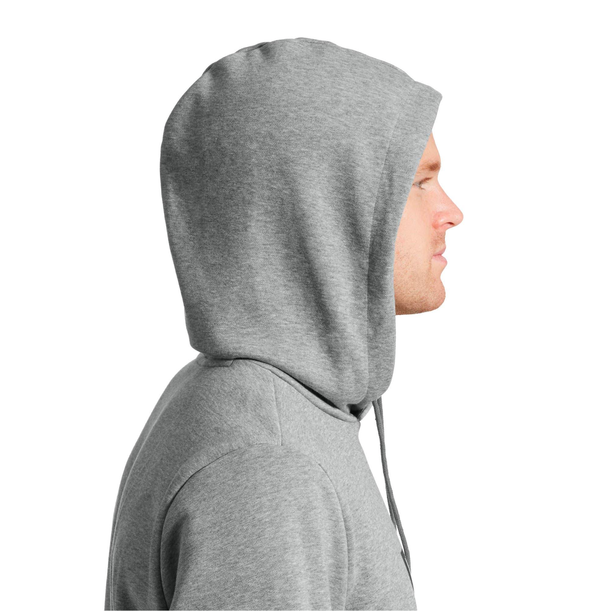Thumbnail 4 of Essentials Men's Fleece Hoodie, Medium Gray Heather, medium