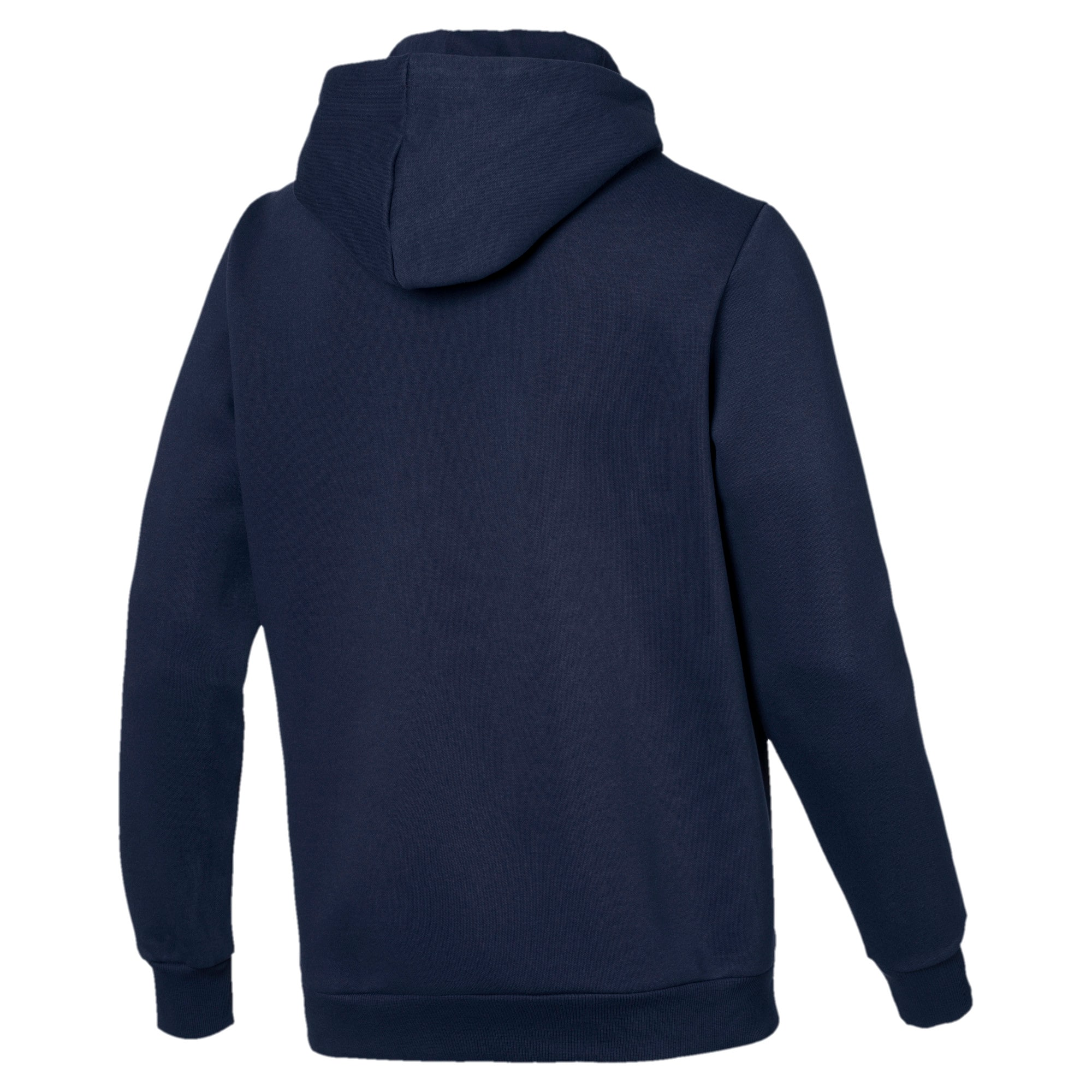 Thumbnail 3 of Essentials Men's Fleece Hoodie, Peacoat, medium