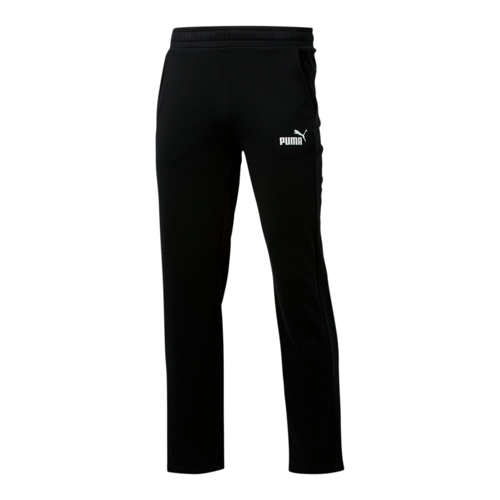 Thumbnail 1 of Essentials Men's Fleece Pants, Puma Black, medium