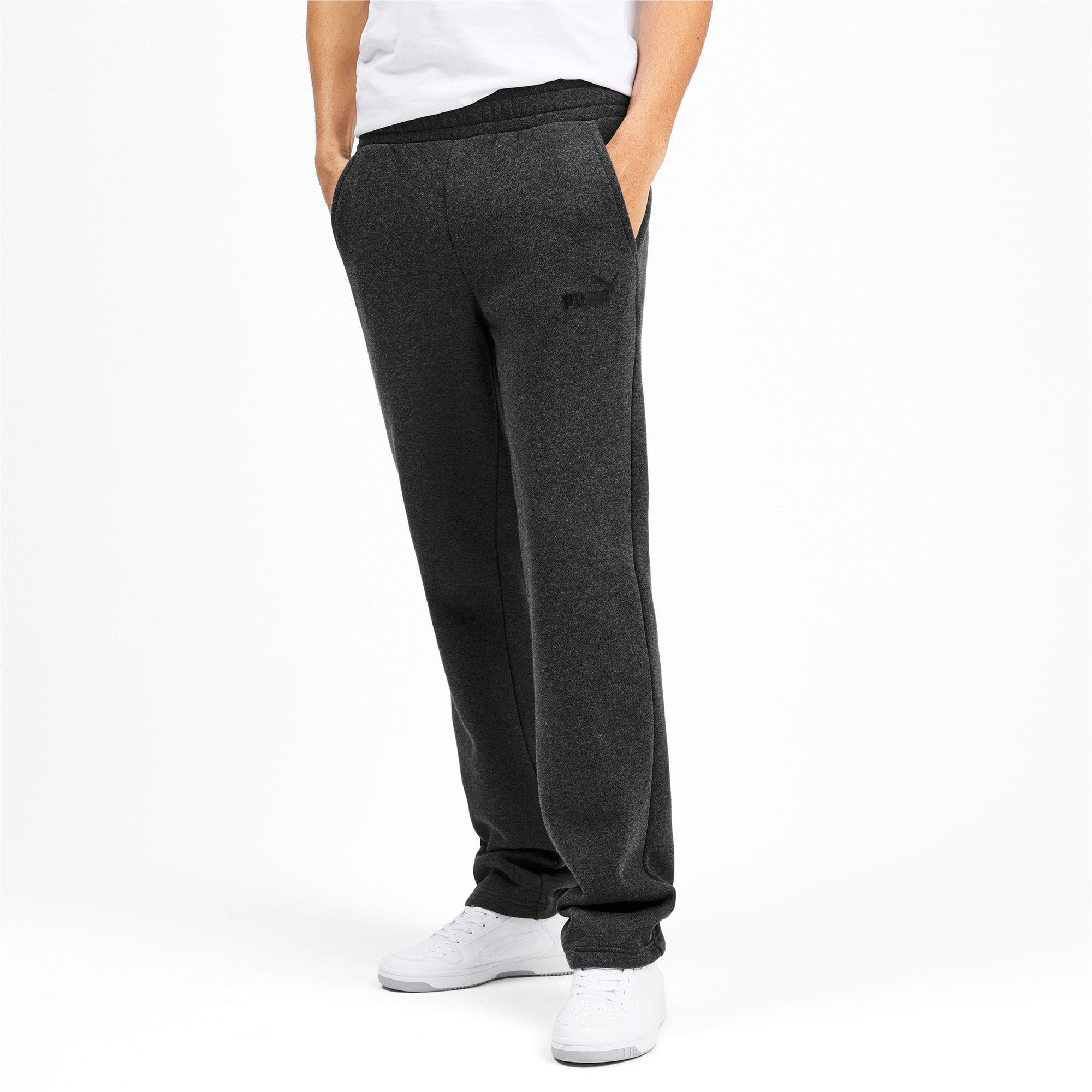 Thumbnail 2 of Essentials Men's Fleece Pants, Dark Gray Heather, medium