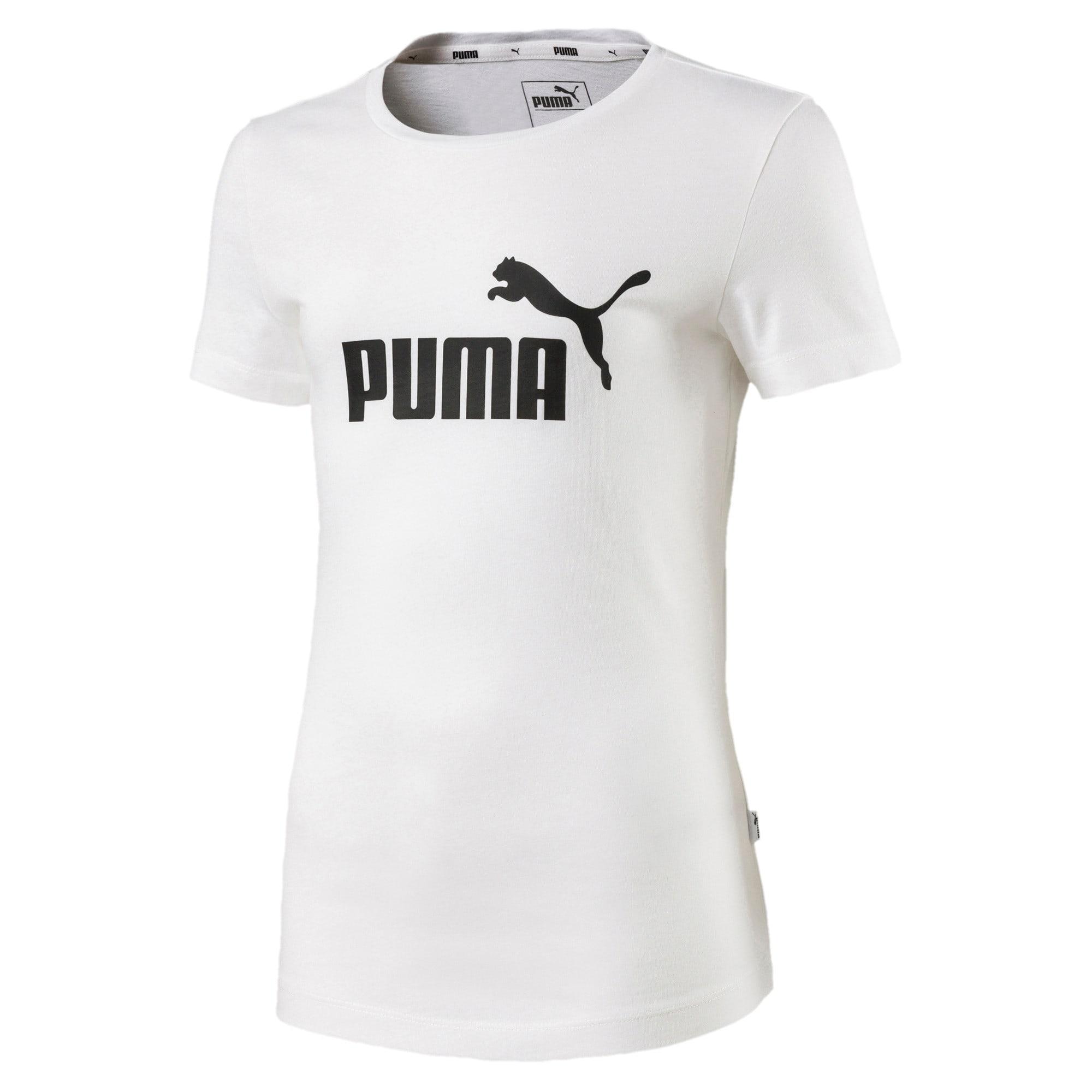 Thumbnail 1 of Essentials Girls' Tee, Puma White, medium