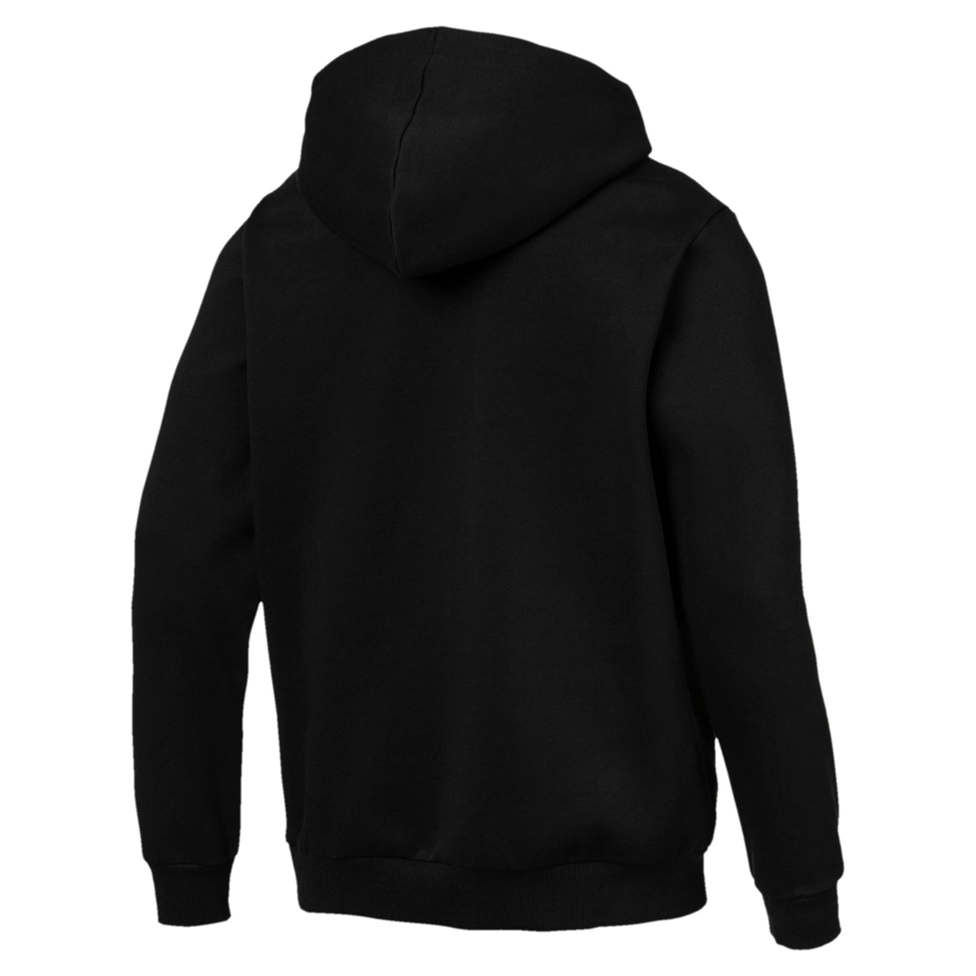 Thumbnail 3 of Essentials Men's Hooded Fleece Jacket, Puma Black, medium