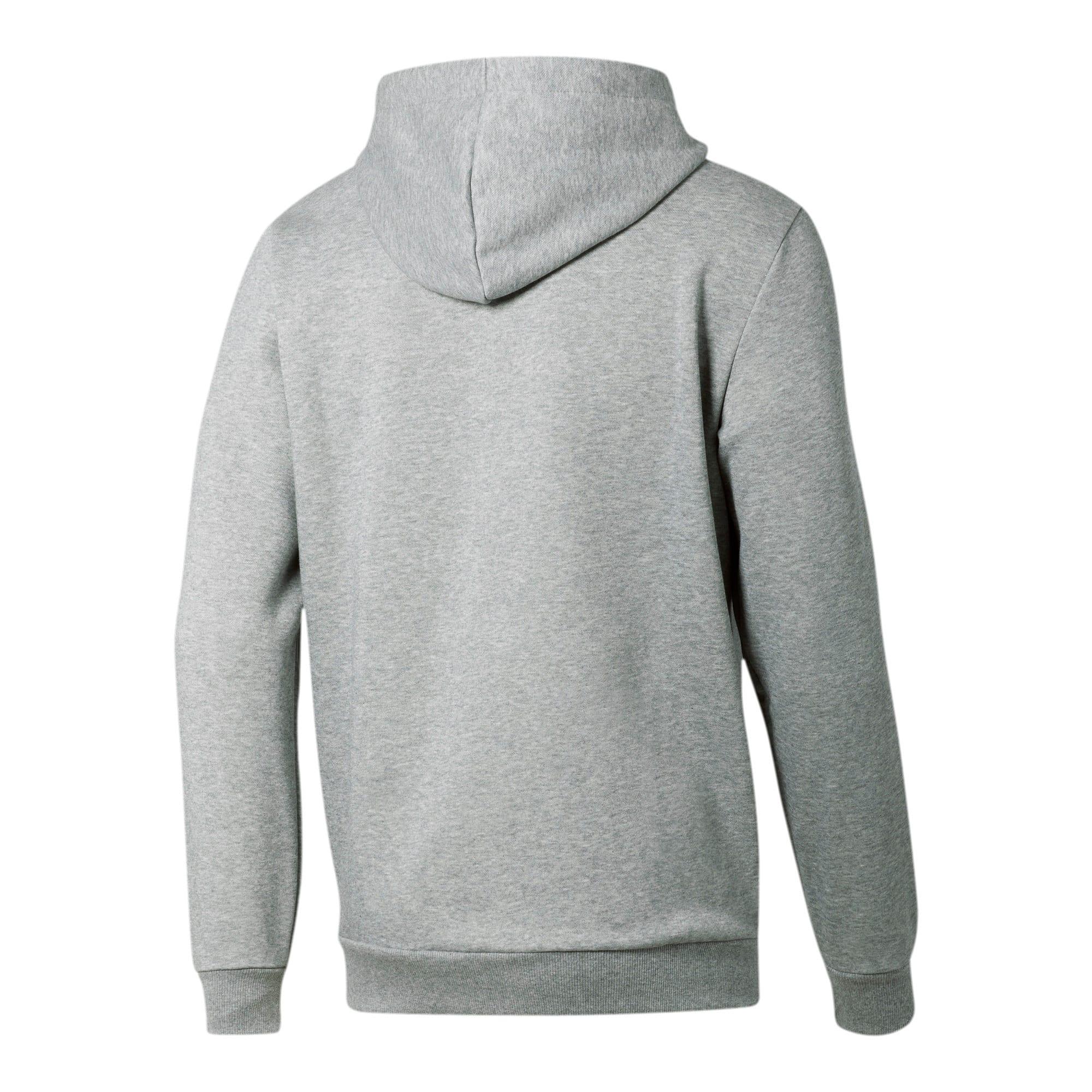Thumbnail 3 of Essentials Men's Hooded Fleece Jacket, Medium Gray Heather, medium