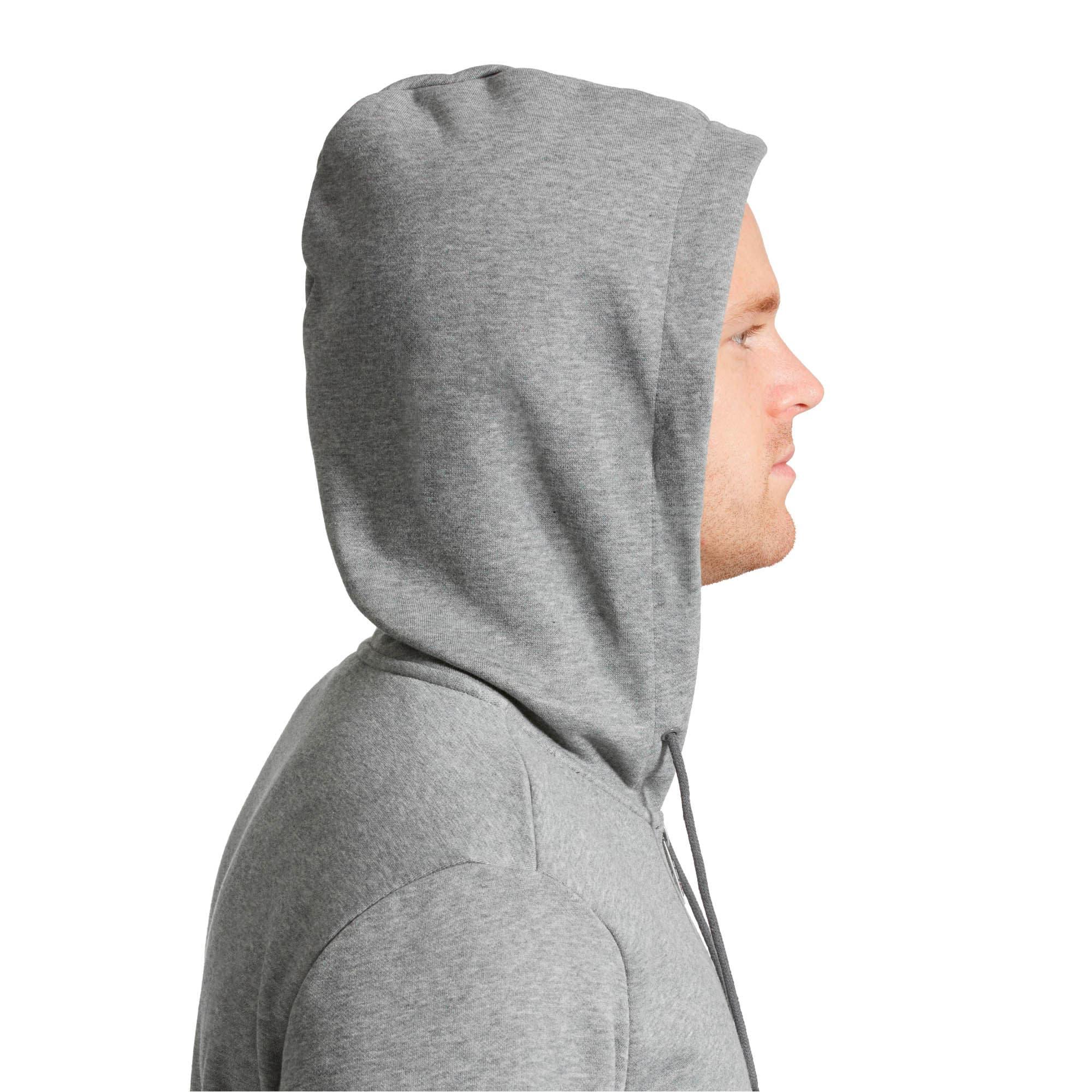 Thumbnail 4 of Essentials Men's Hooded Fleece Jacket, Medium Gray Heather, medium
