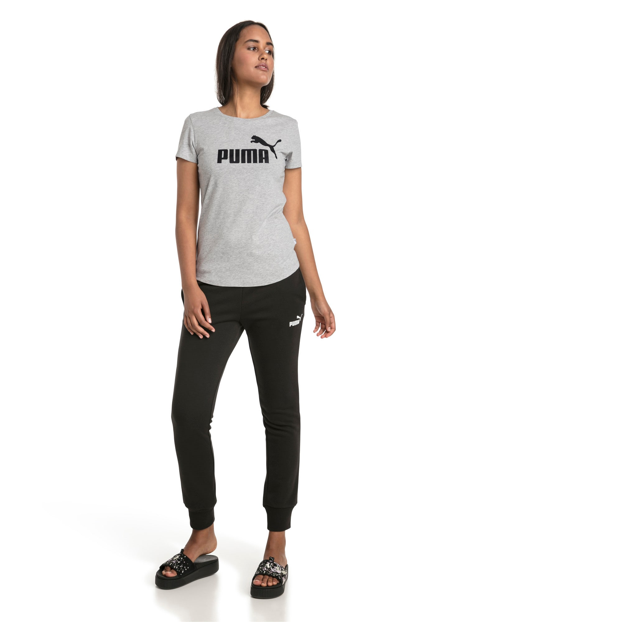 Thumbnail 3 of Essentials Damen T-Shirt, Light Gray Heather, medium