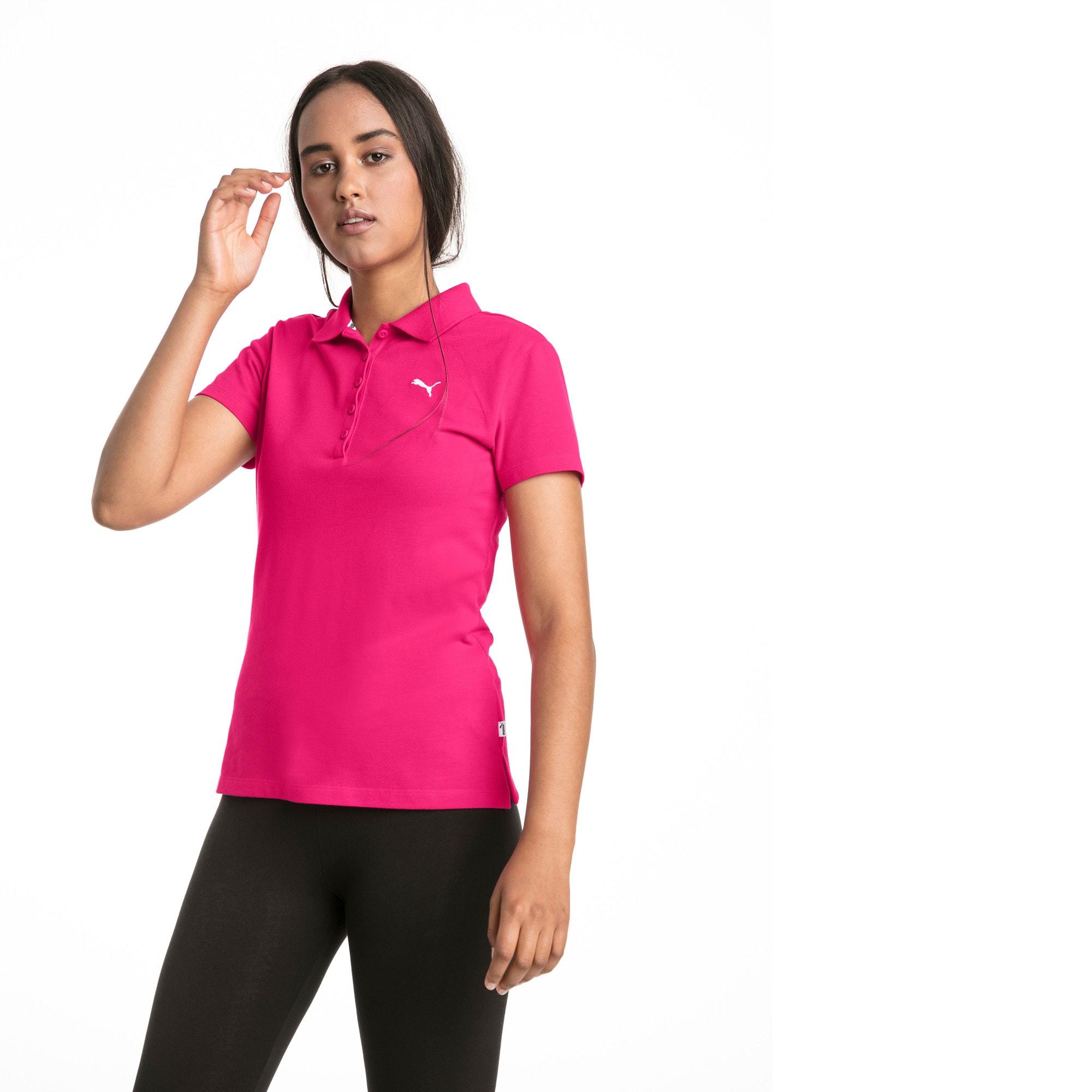 Thumbnail 1 of Essentials Women's Polo, Beetroot Purple-Cat, medium