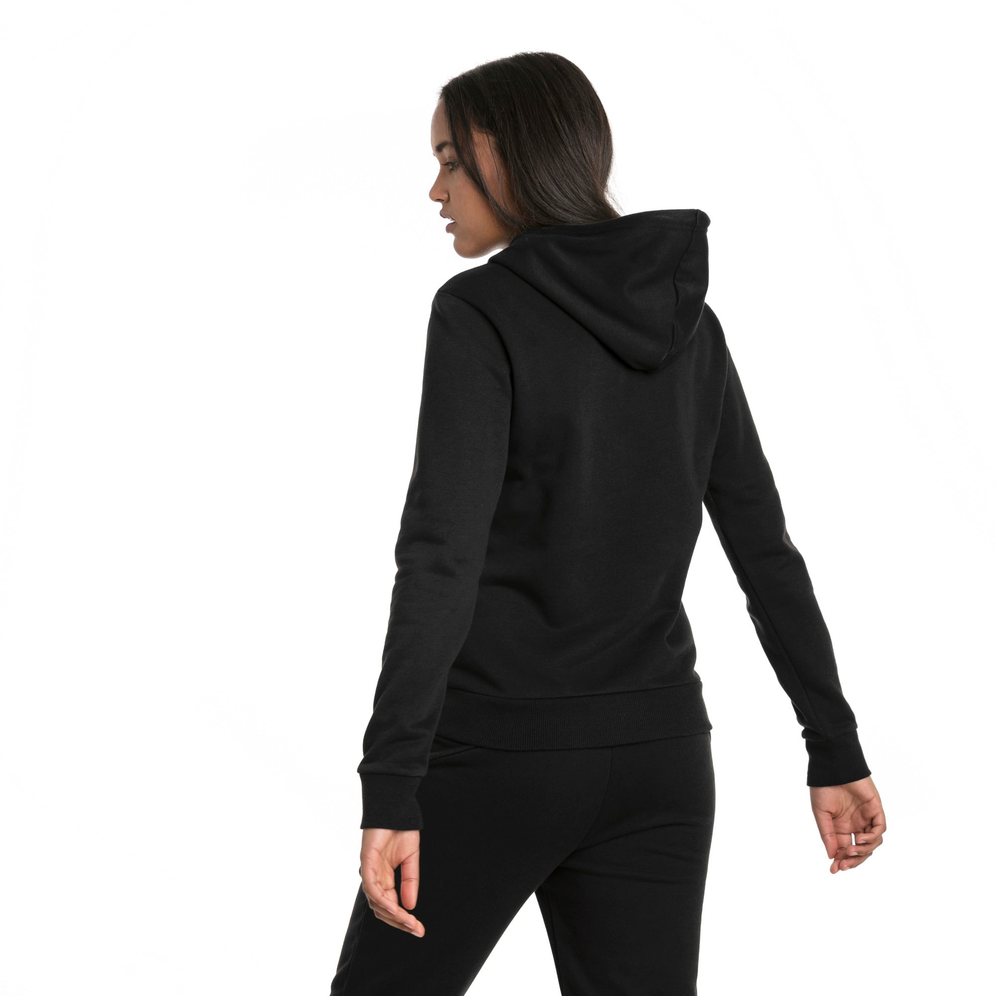 Thumbnail 2 of Essentials Fleece Women's Hoodie, Cotton Black, medium