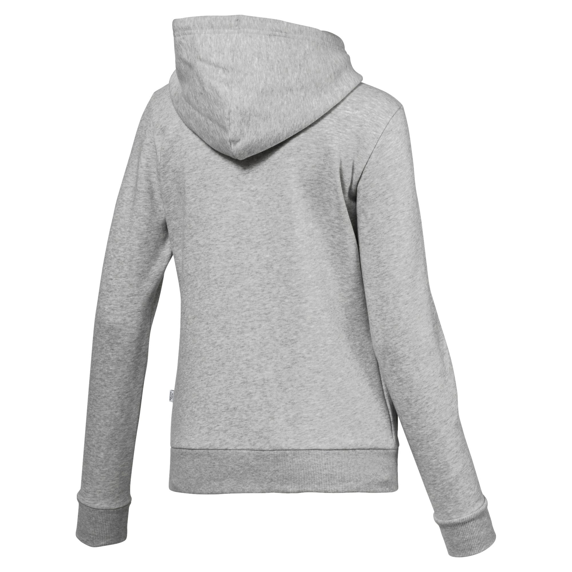 Thumbnail 5 of Essentials Fleece Women's Hoodie, Light Gray Heather, medium