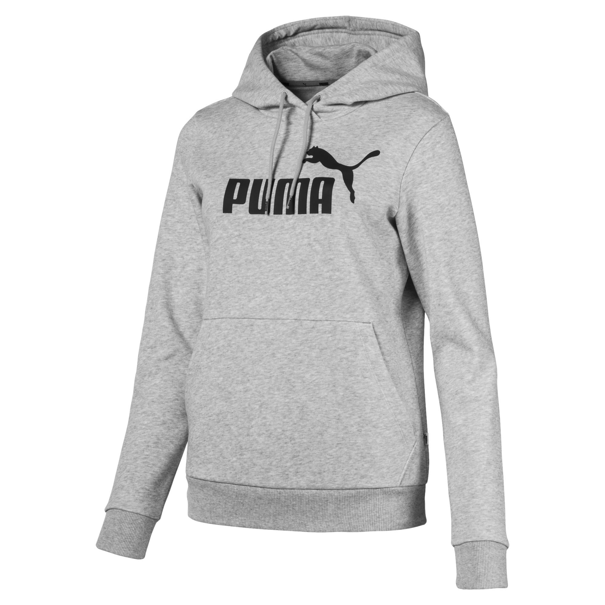 Thumbnail 4 of Essentials Fleece Women's Hoodie, Light Gray Heather, medium