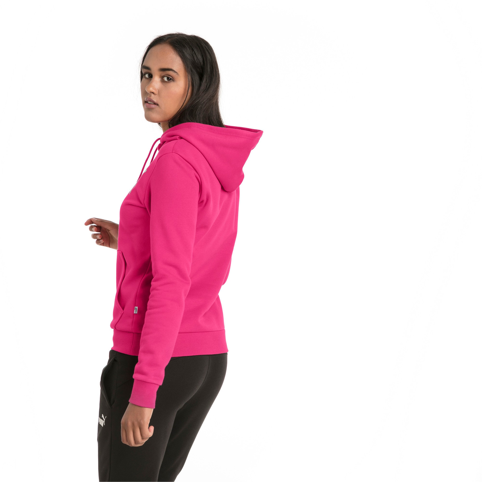 Thumbnail 2 of Essentials Damen Fleece Hoodie, Beetroot Purple, medium