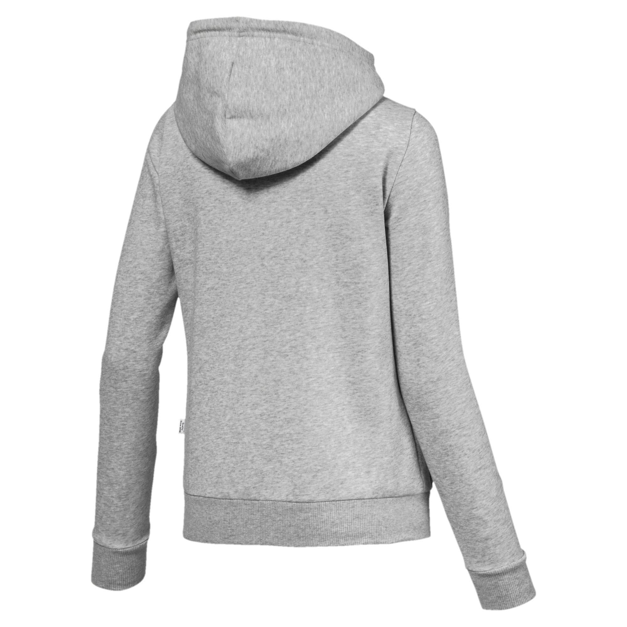 Thumbnail 2 of Essentials Fleece Hooded Full Zip Women's Sweat Jacket, Light Gray Heather, medium