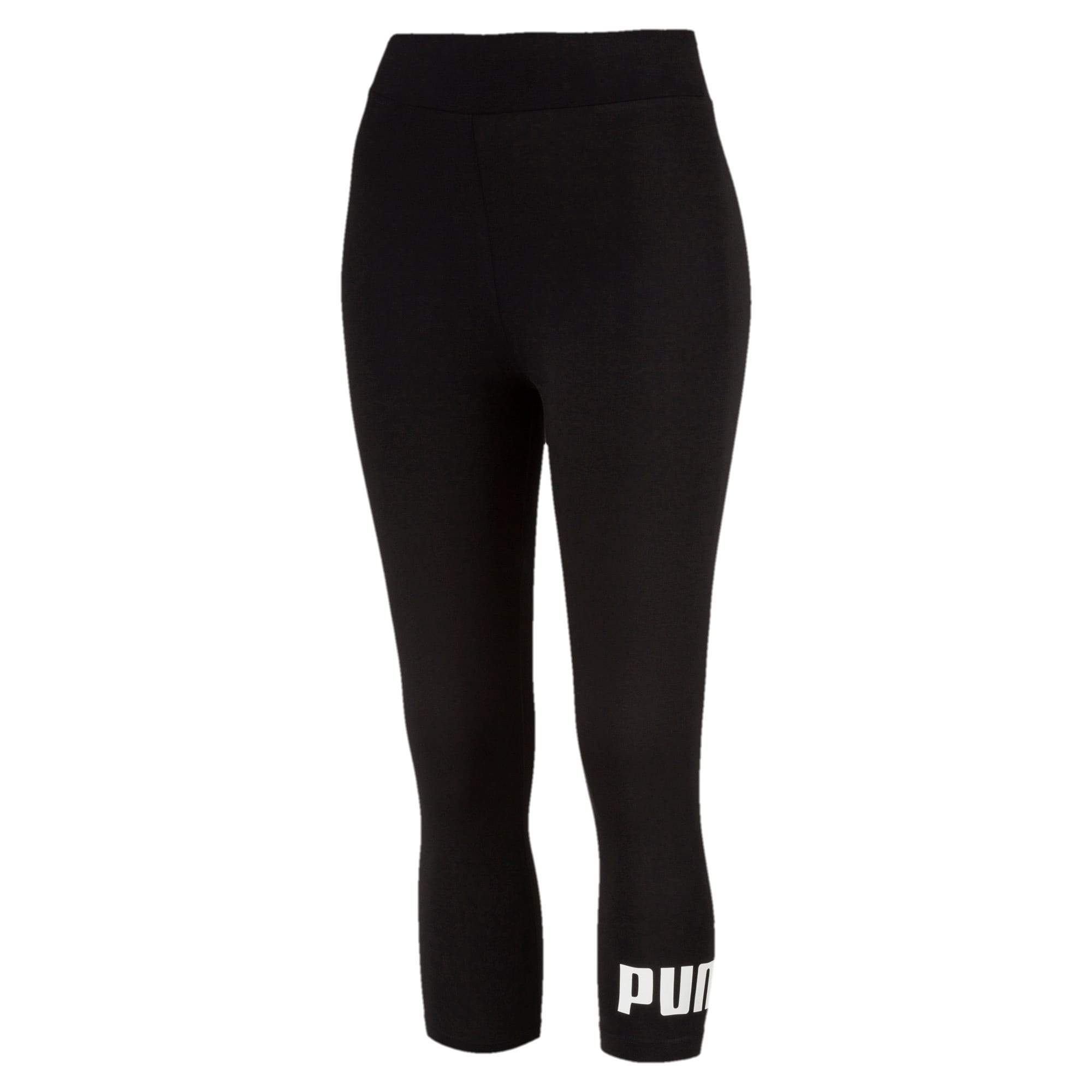 Thumbnail 1 of Essentials Damen 3/4 Leggings, Cotton Black, medium