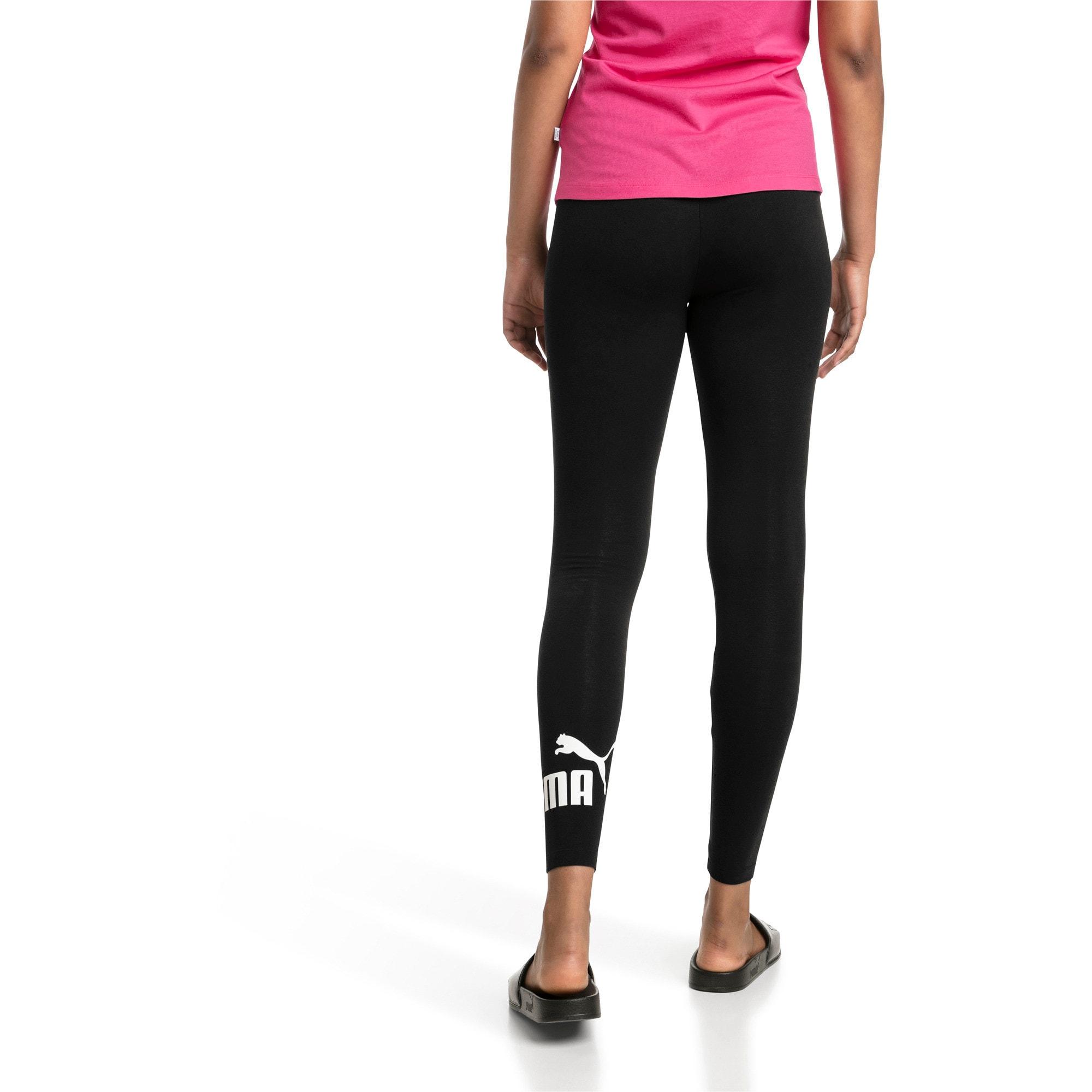 Thumbnail 2 of Women's Essentials Logo Leggings, Cotton Black, medium