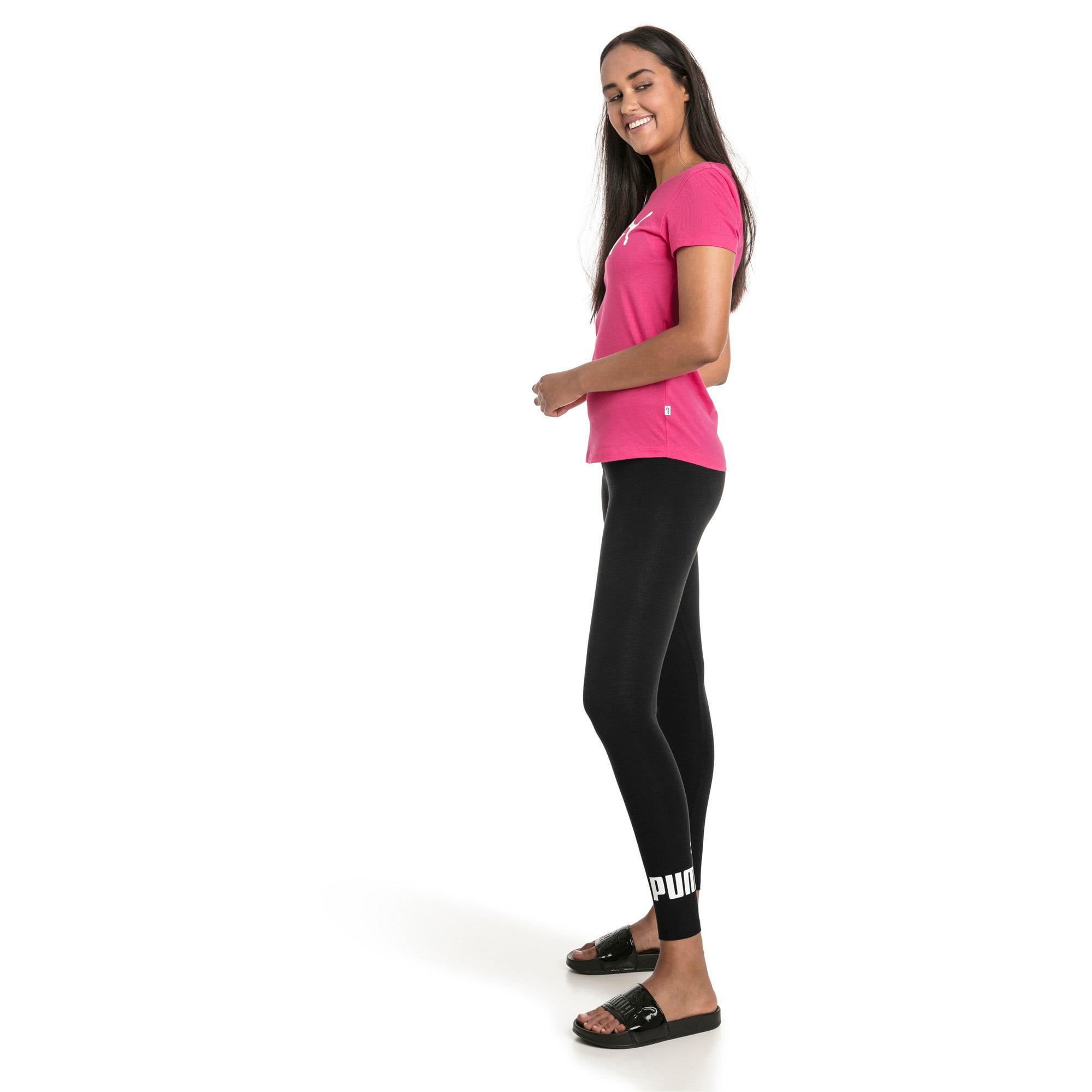 Thumbnail 3 of Women's Essentials Logo Leggings, Cotton Black, medium