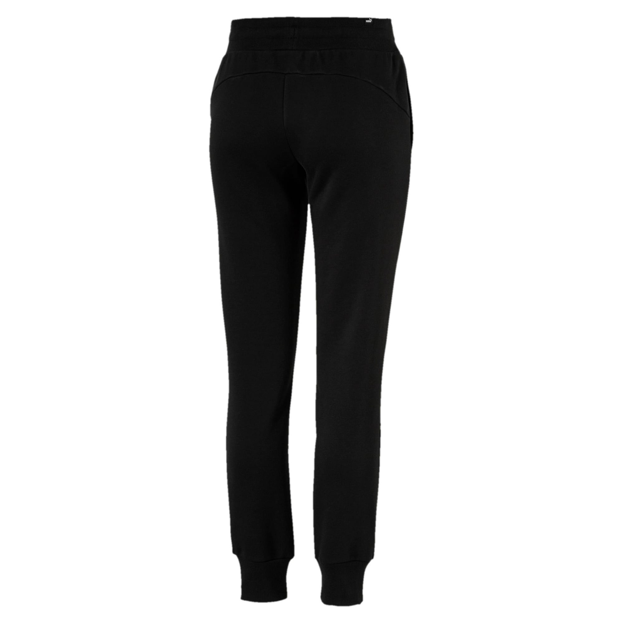 Thumbnail 5 of Essentials Damen Fleece Jogginghose, Cotton Black, medium